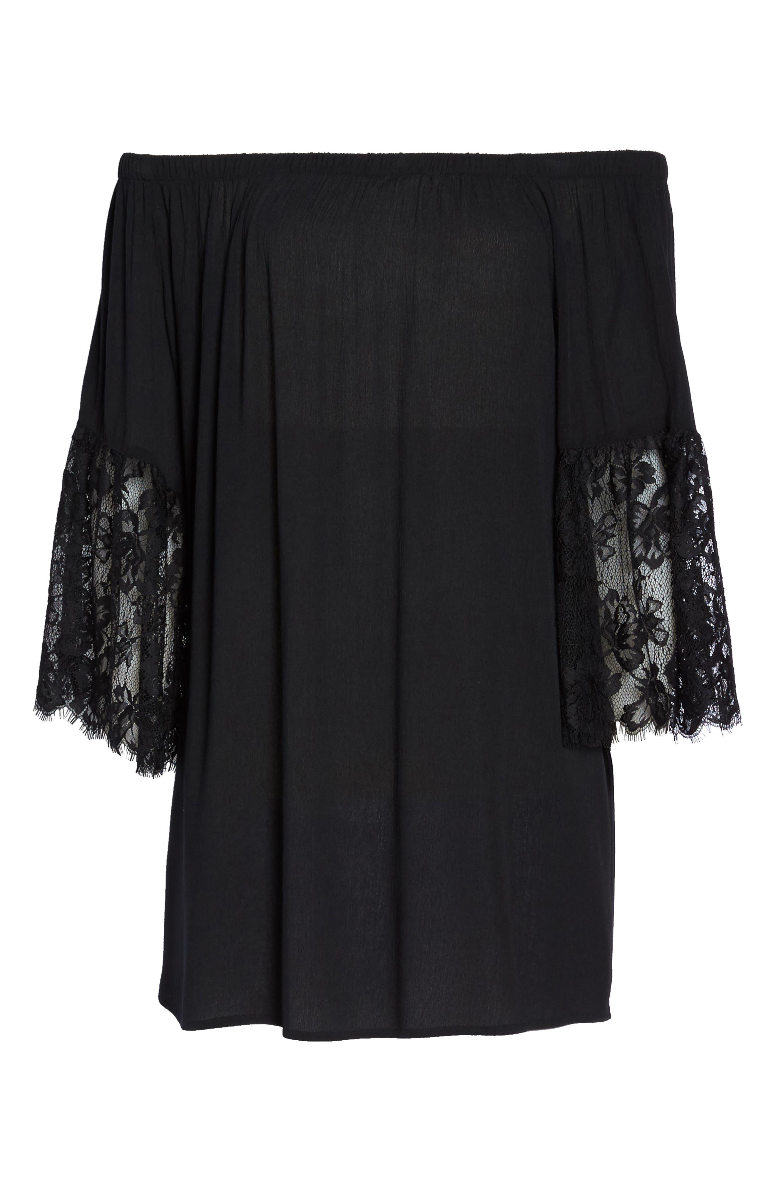 Off the Shoulder Cover-Up Dress,                             Alternate thumbnail 17, color,