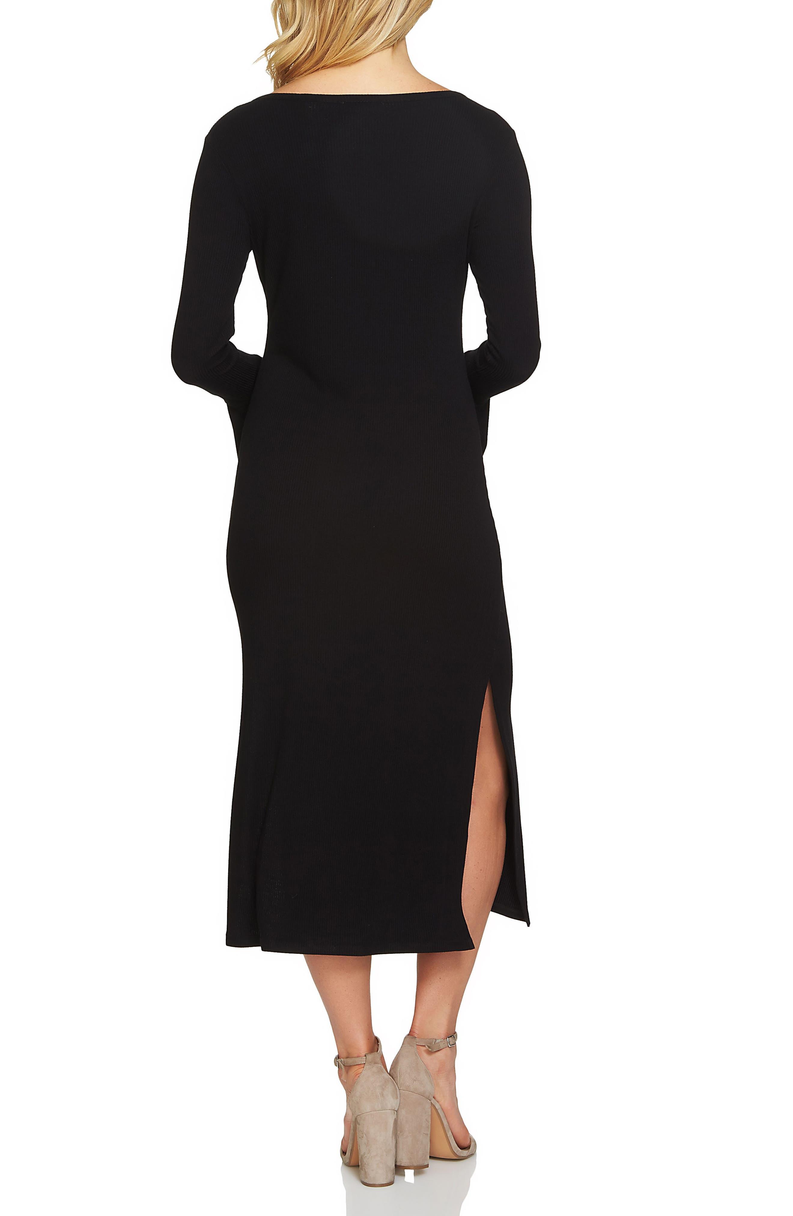Bell Sleeve Midi Dress,                             Alternate thumbnail 2, color,                             010