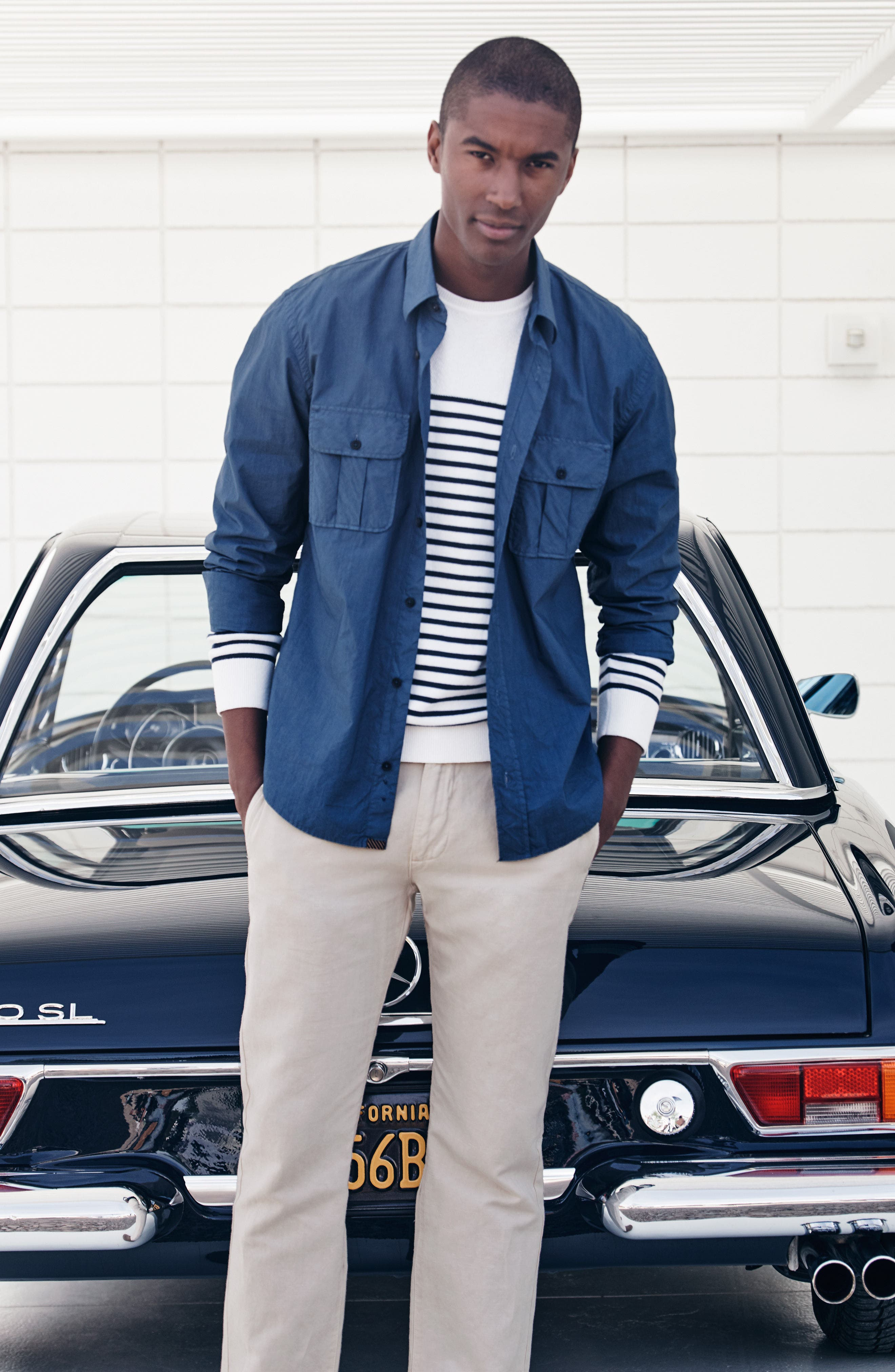 Brantley Slim Fit Sport Shirt,                             Alternate thumbnail 7, color,                             300