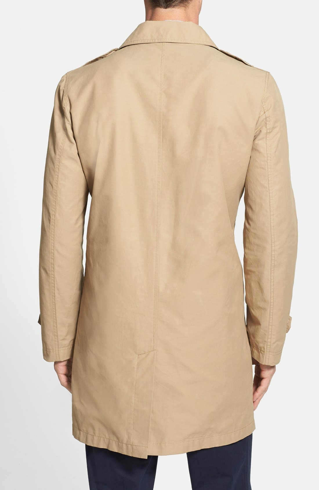 COLE HAAN,                             Cotton Blend Twill Car Coat,                             Alternate thumbnail 3, color,                             258