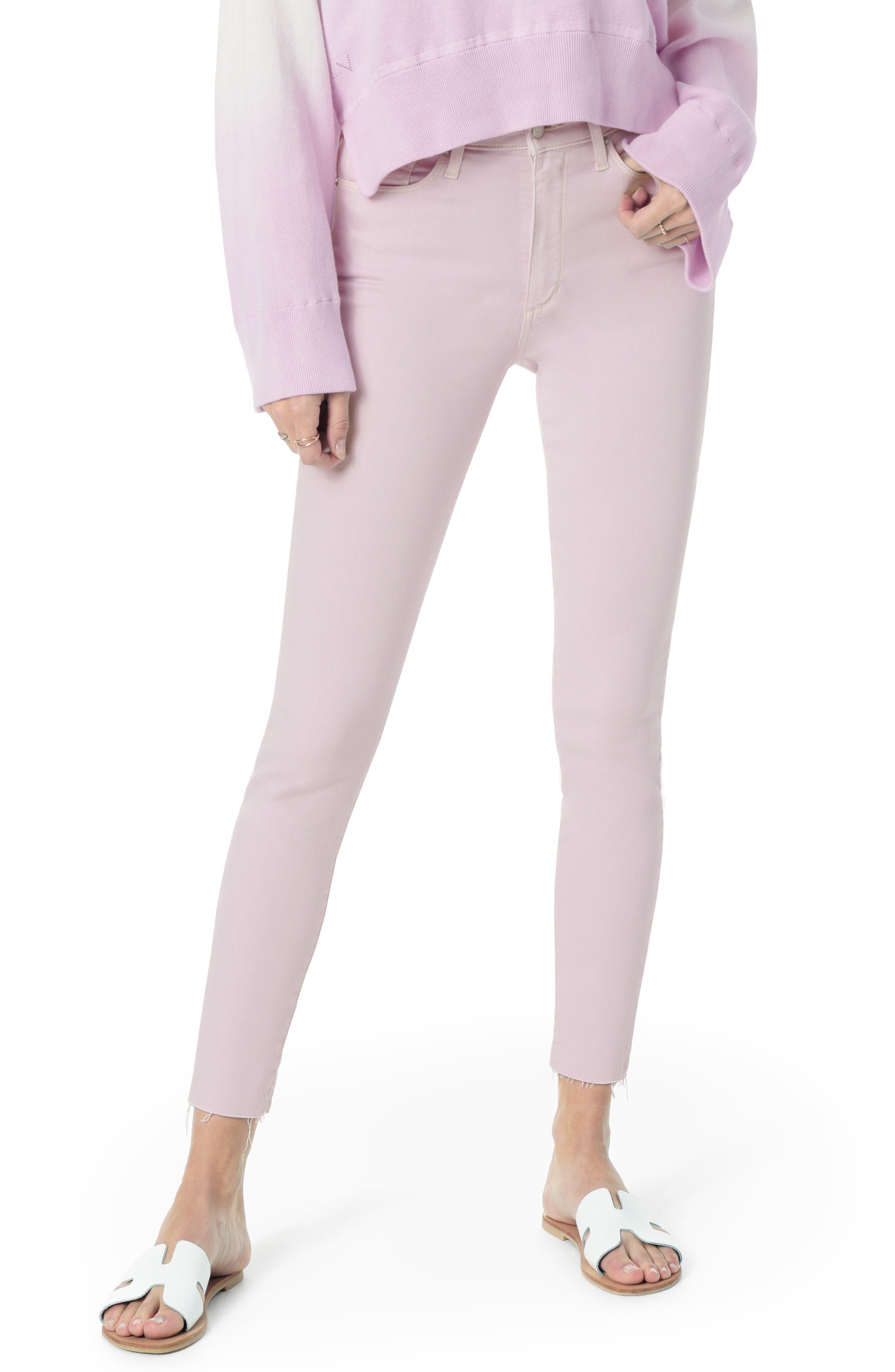 JOE'S Flawless - Icon Raw Hem Crop Skinny Jeans, Main, color, LAVENDER