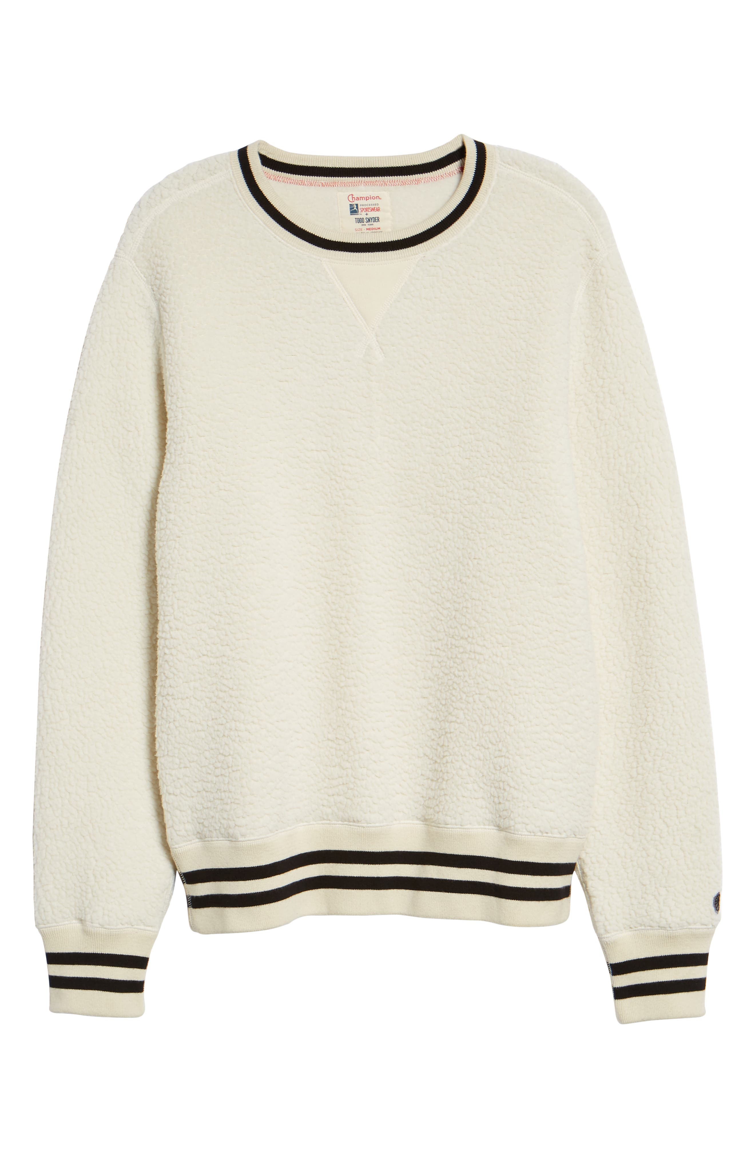 + Champion Fleece Crewneck Sweatshirt,                             Alternate thumbnail 6, color,                             900
