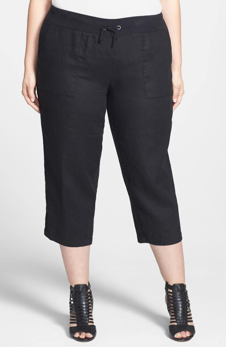 c2967e2b25284 Eileen Fisher Organic Linen Capri Pants (Plus Size)