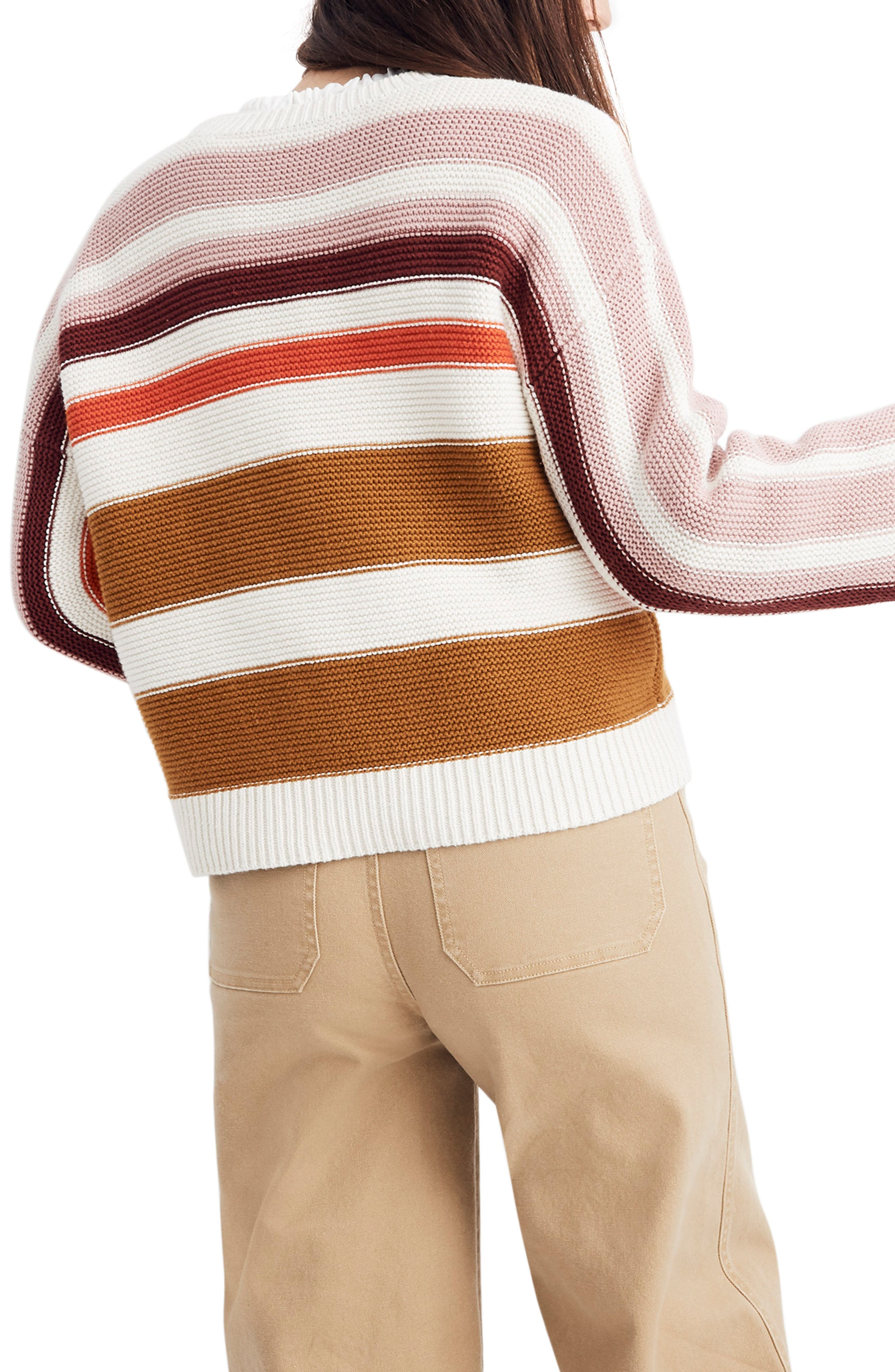 MADEWELL,                             Valleyscape Stripe Pullover Sweater,                             Alternate thumbnail 2, color,                             NATURAL