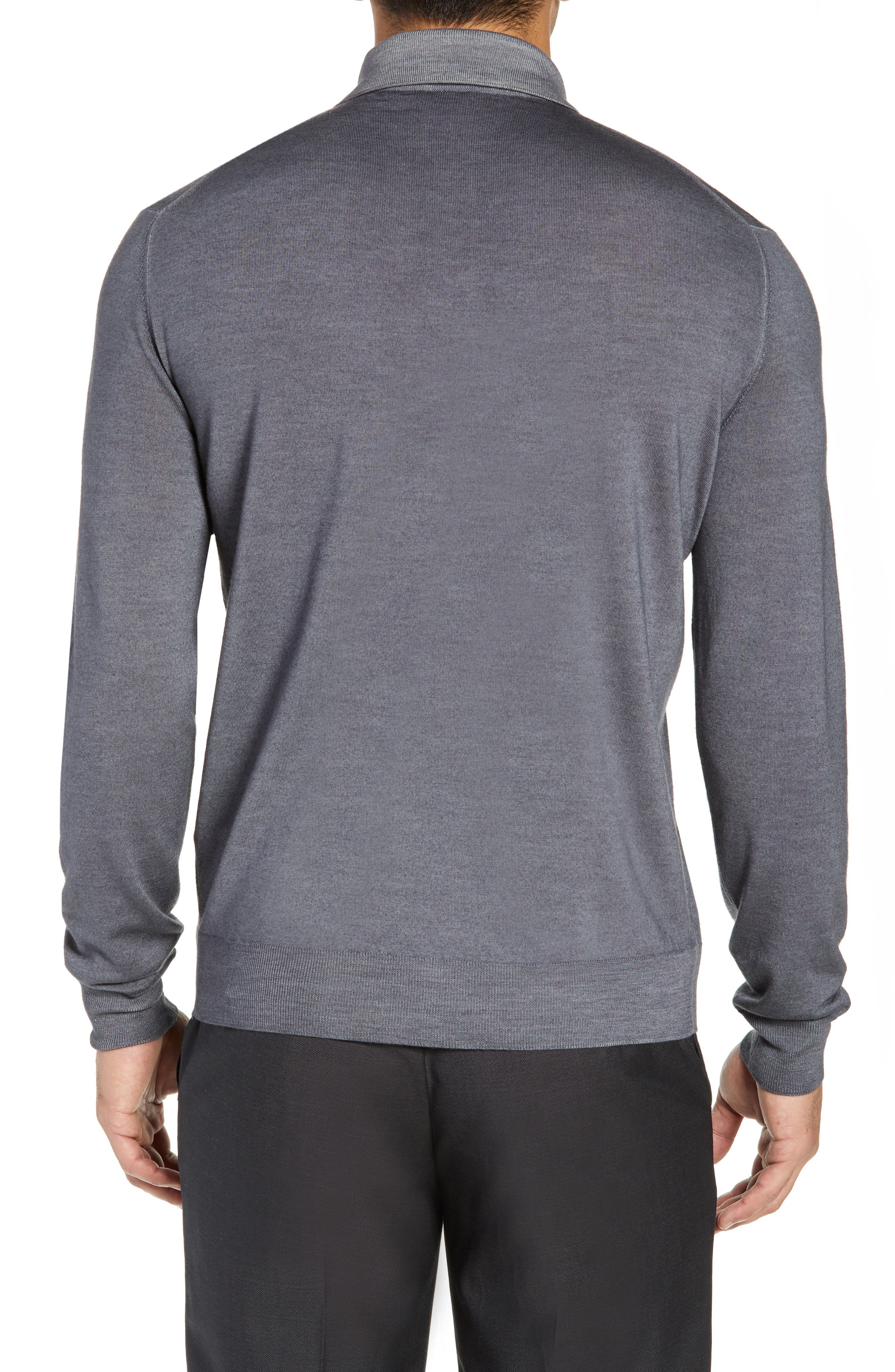 Dustin Wool Polo Sweater,                             Alternate thumbnail 2, color,                             GREY