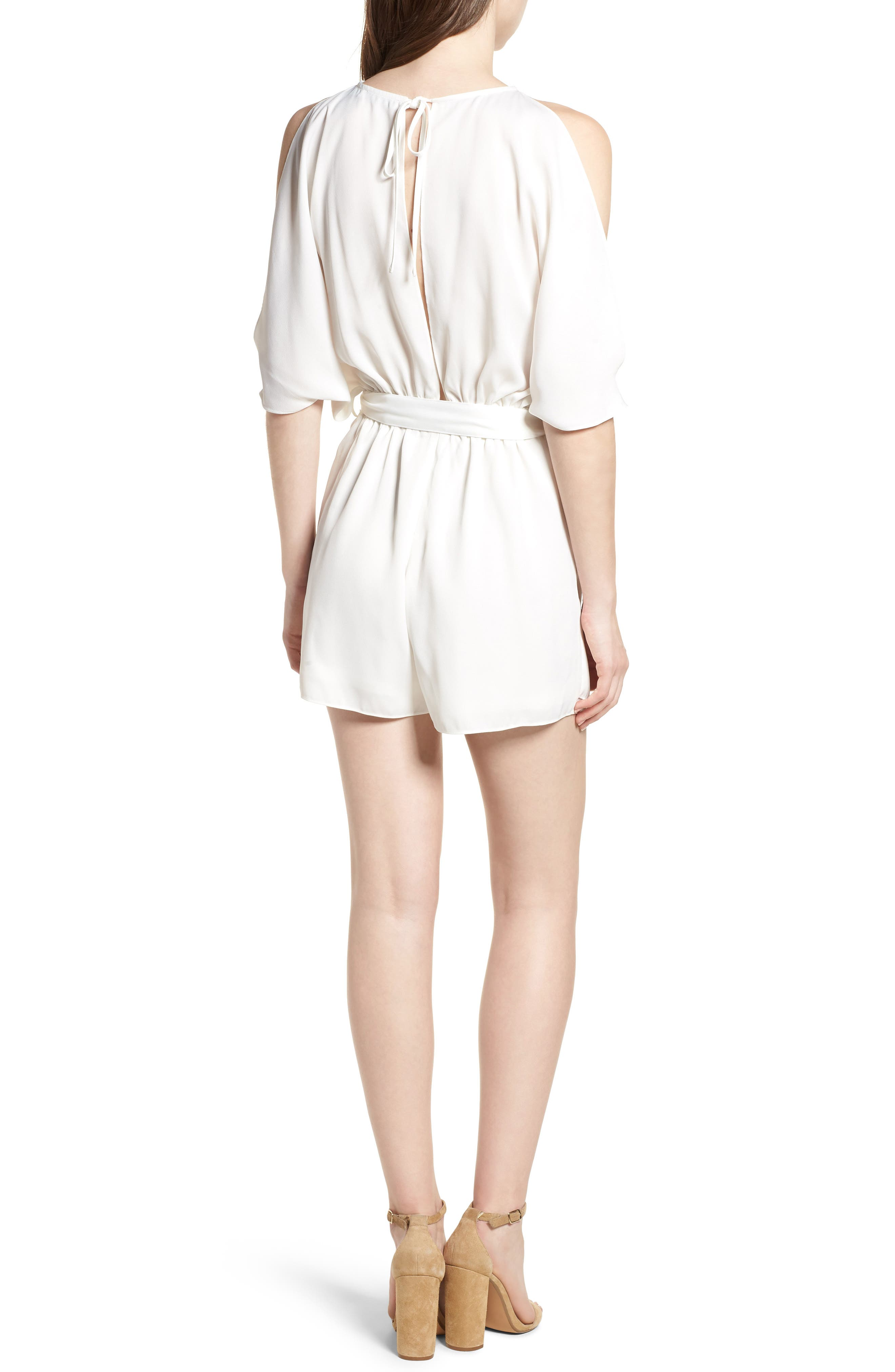 Bishop + Young Jet Set Cold Shoulder Romper,                             Alternate thumbnail 2, color,
