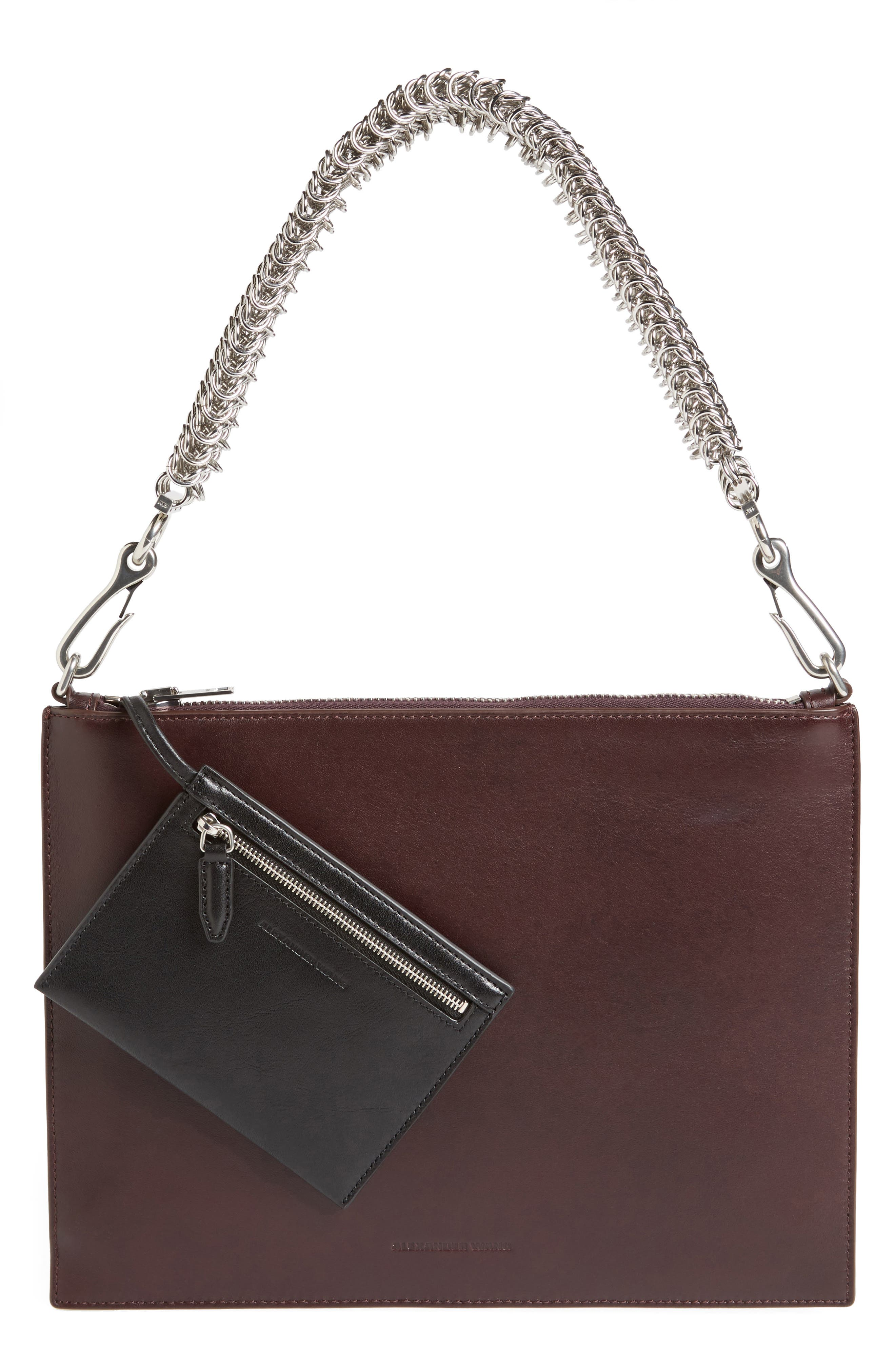Genesis Box Chain Leather Pouch,                             Main thumbnail 1, color,                             240
