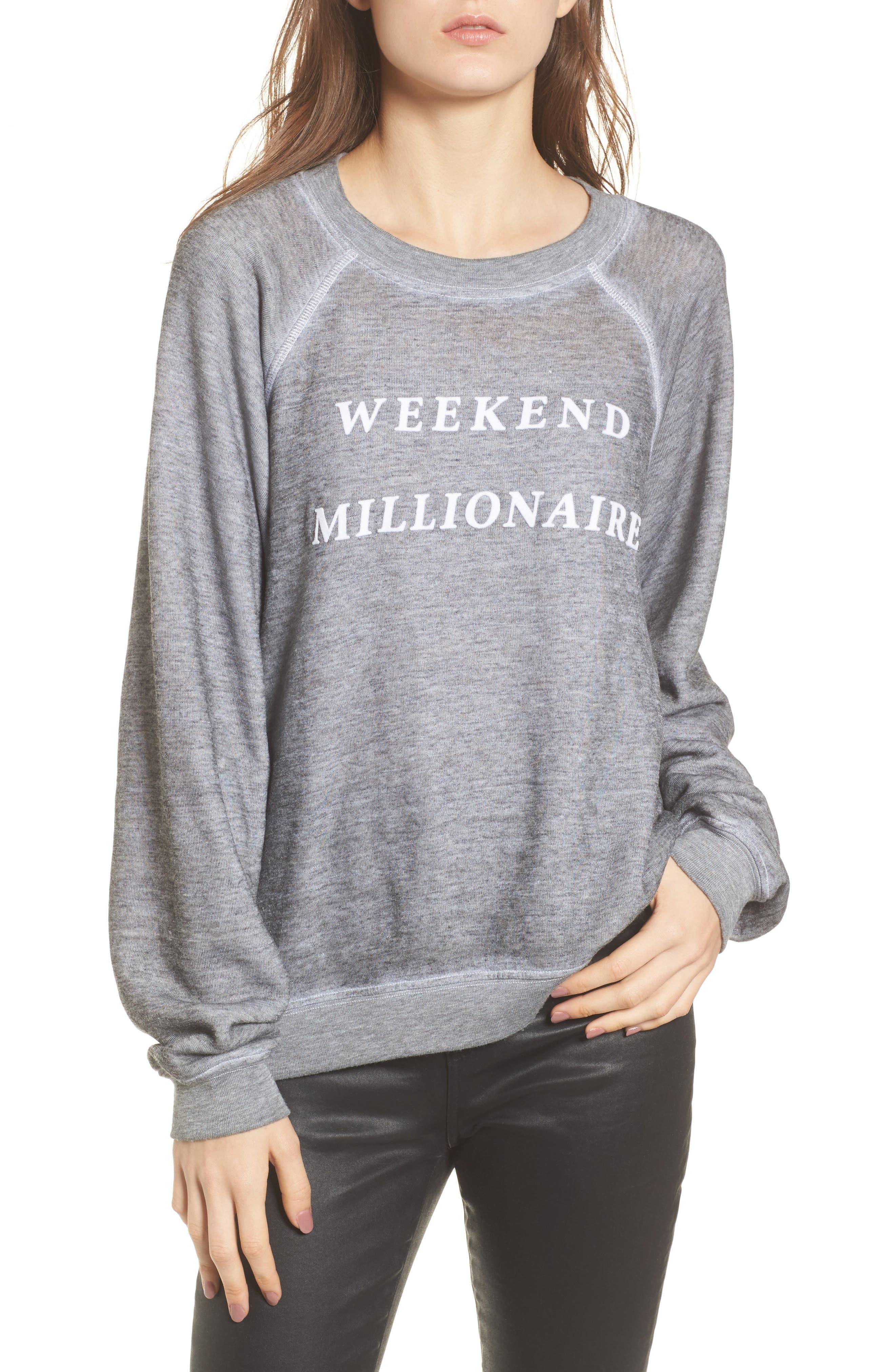 Weekend Millionaire Sweatshirt,                             Main thumbnail 1, color,                             020