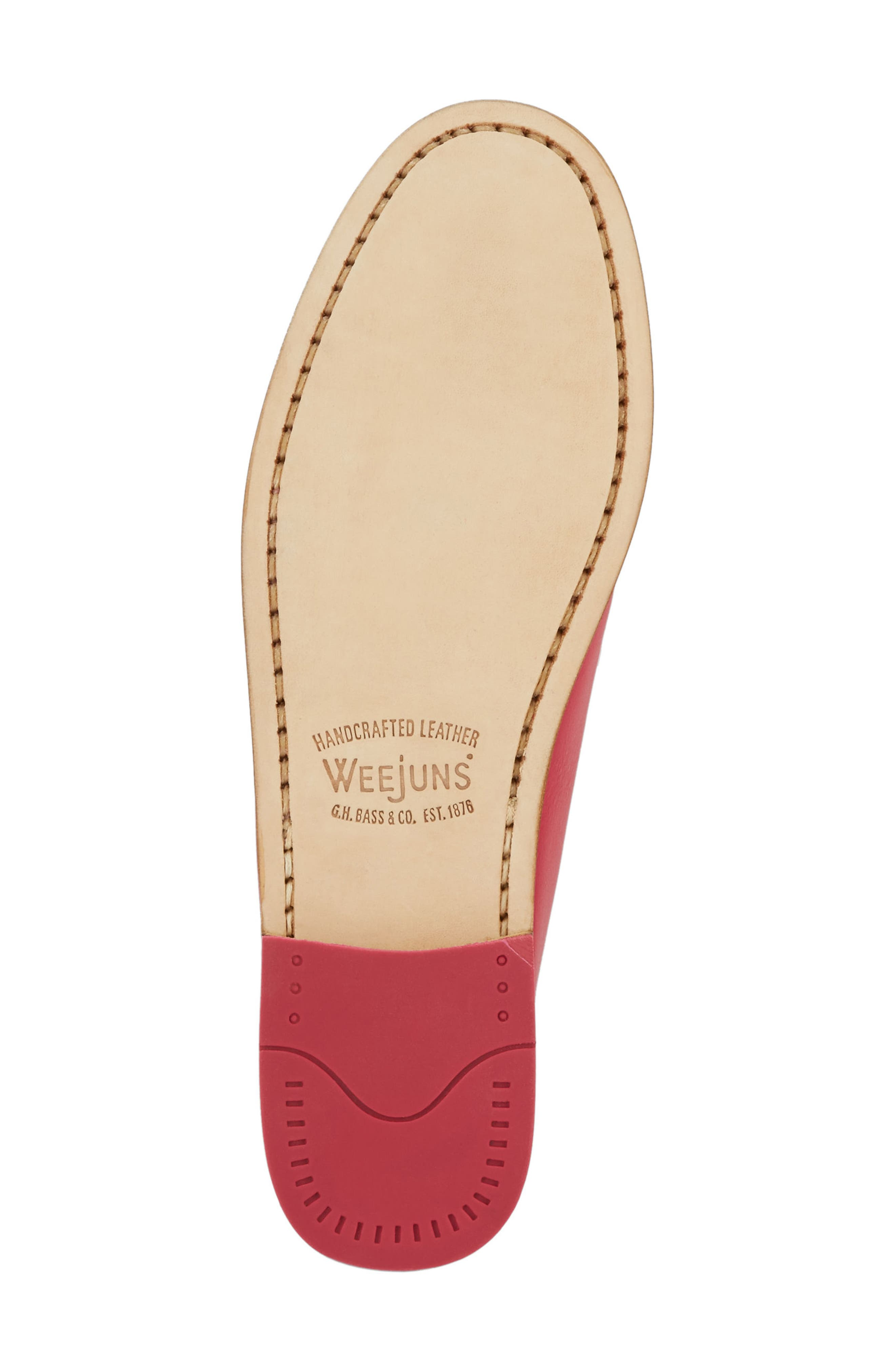 'Whitney' Loafer,                             Alternate thumbnail 6, color,                             BERRY PINK LEATHER