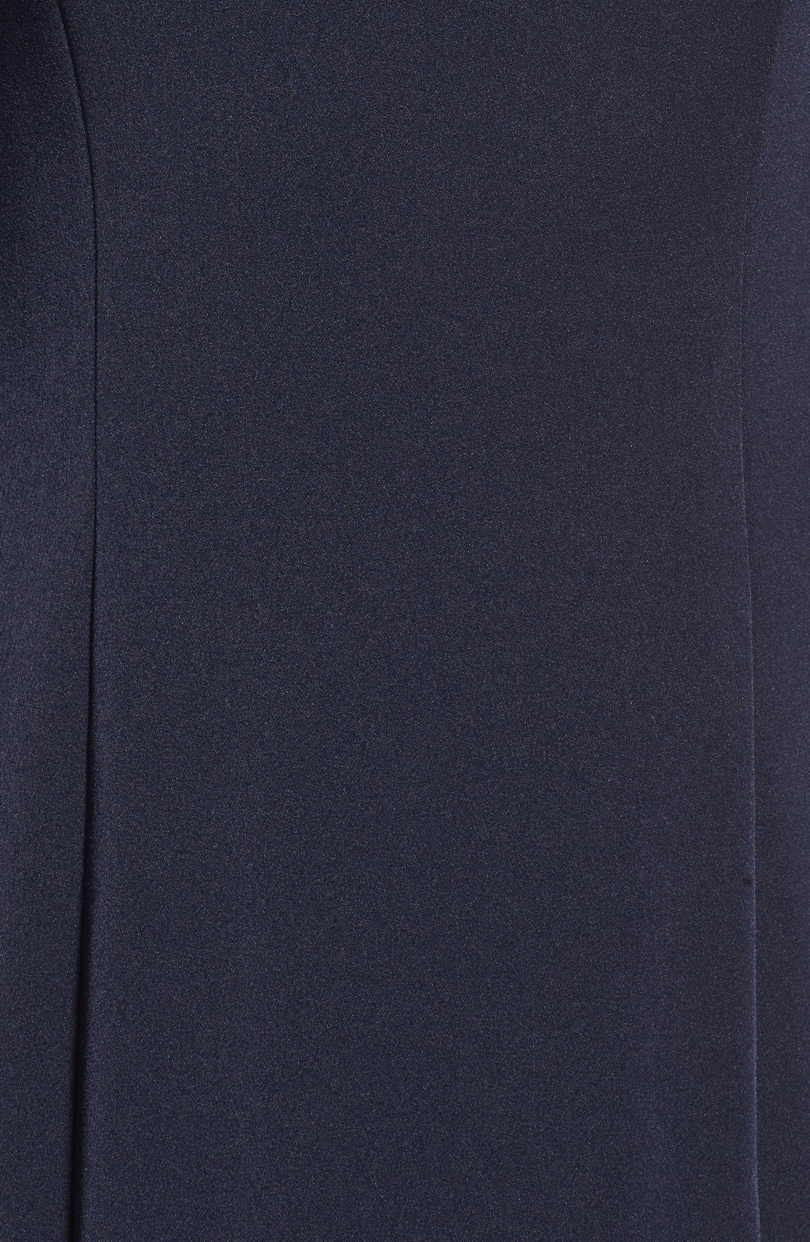 Cape Illusion Gown,                             Alternate thumbnail 5, color,                             NAVY
