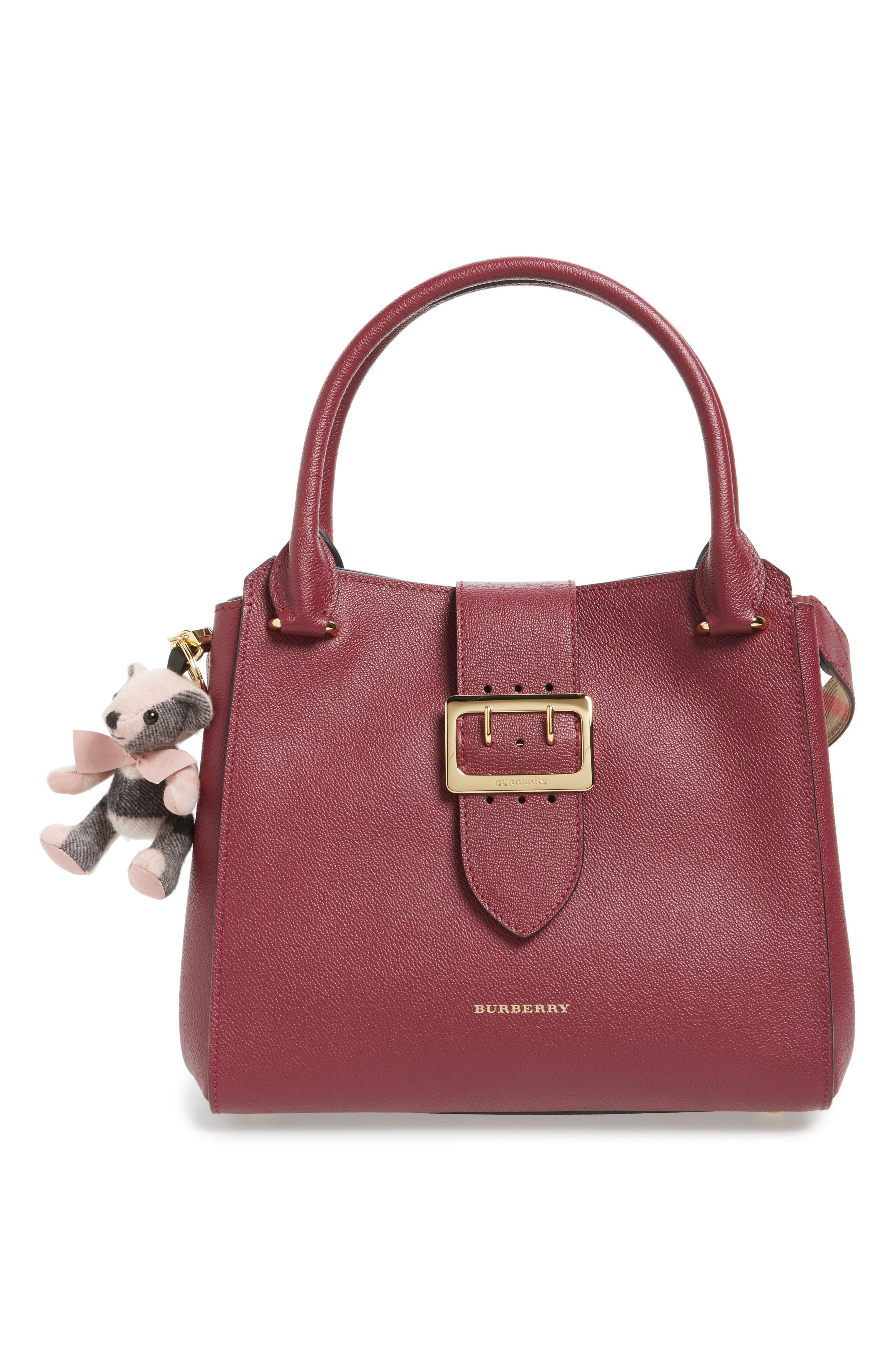 'Thomas' Check Bear Cashmere Bag Charm,                             Alternate thumbnail 2, color,                             650