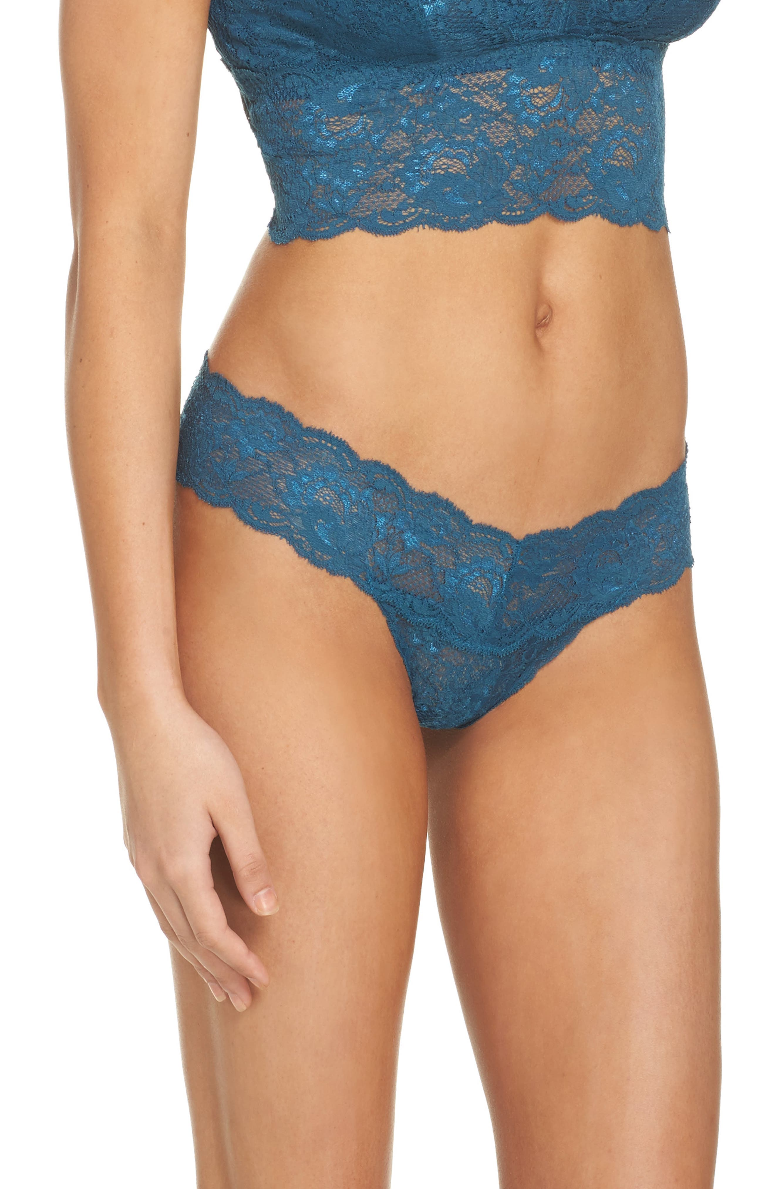 'Never Say Never Cutie' Thong,                             Alternate thumbnail 256, color,