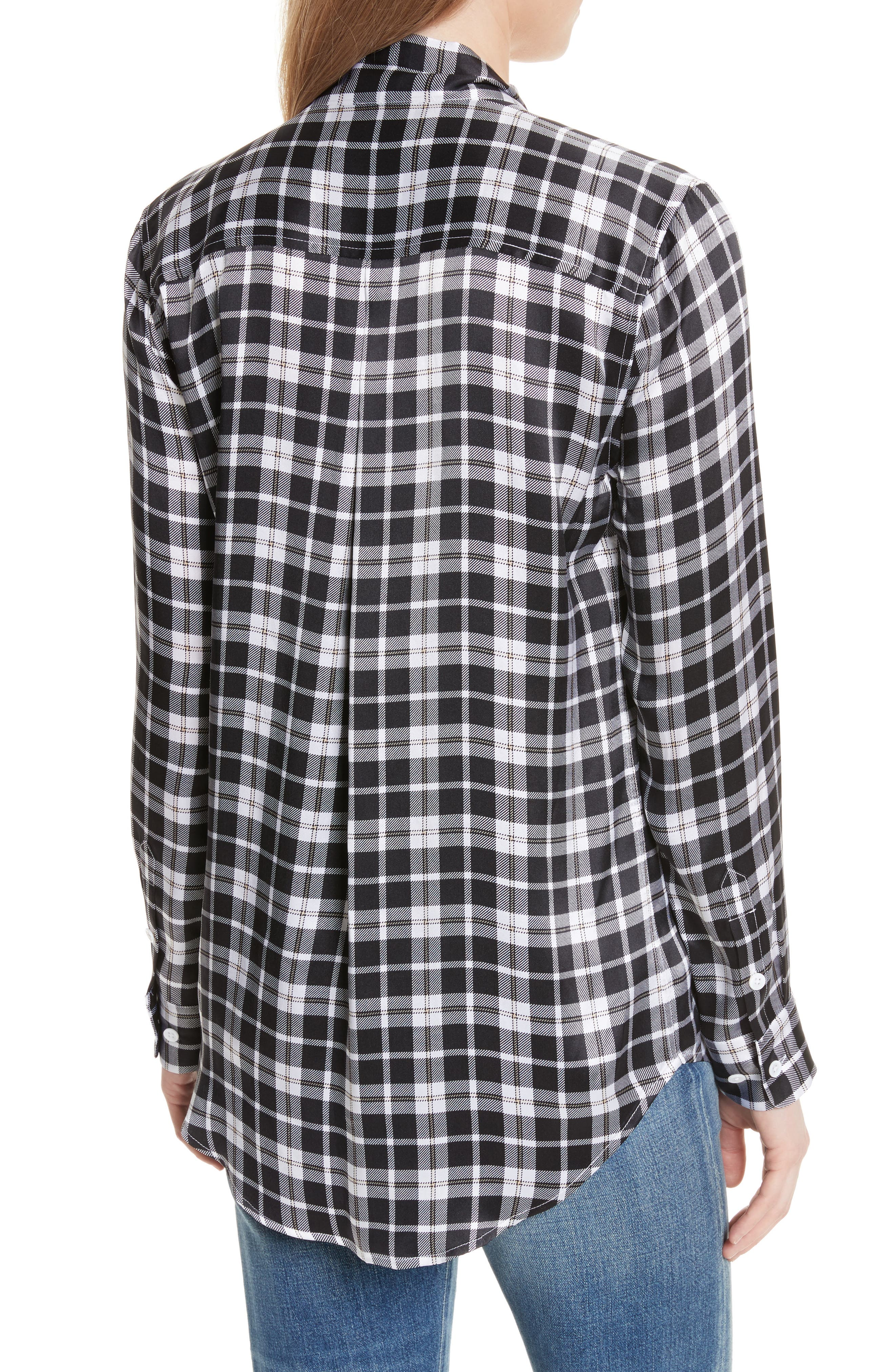 Essential Tie Neck Silk Shirt,                             Alternate thumbnail 2, color,                             129