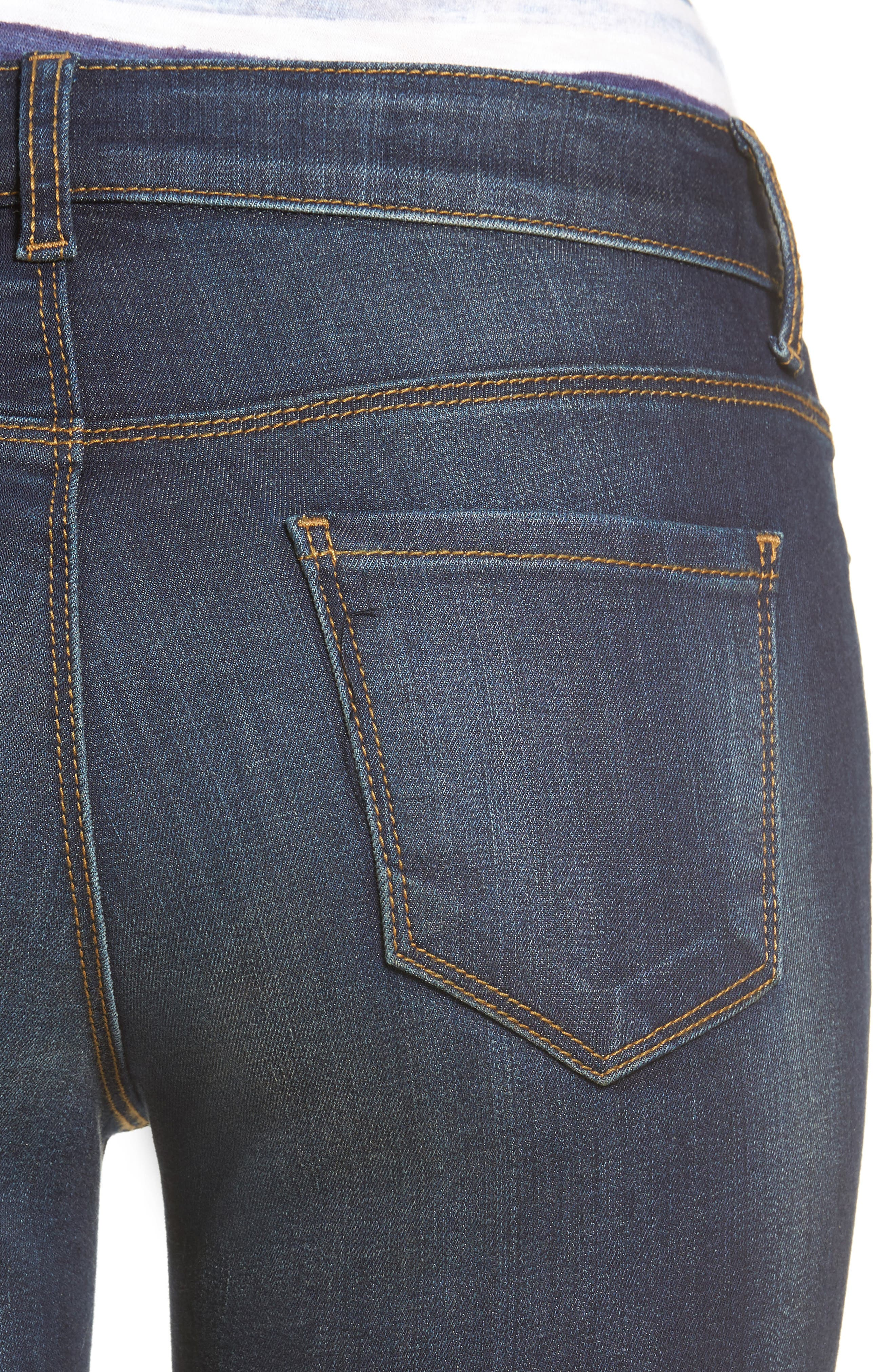 Kurvy Ankle Skinny Jeans,                             Alternate thumbnail 4, color,