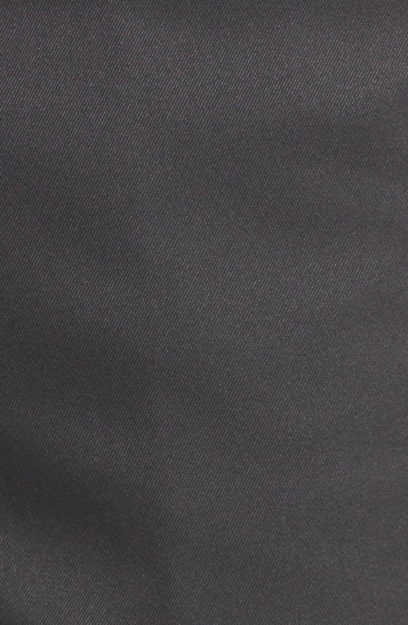 Flat Front Tech Shorts,                             Alternate thumbnail 5, color,                             CHARCOAL