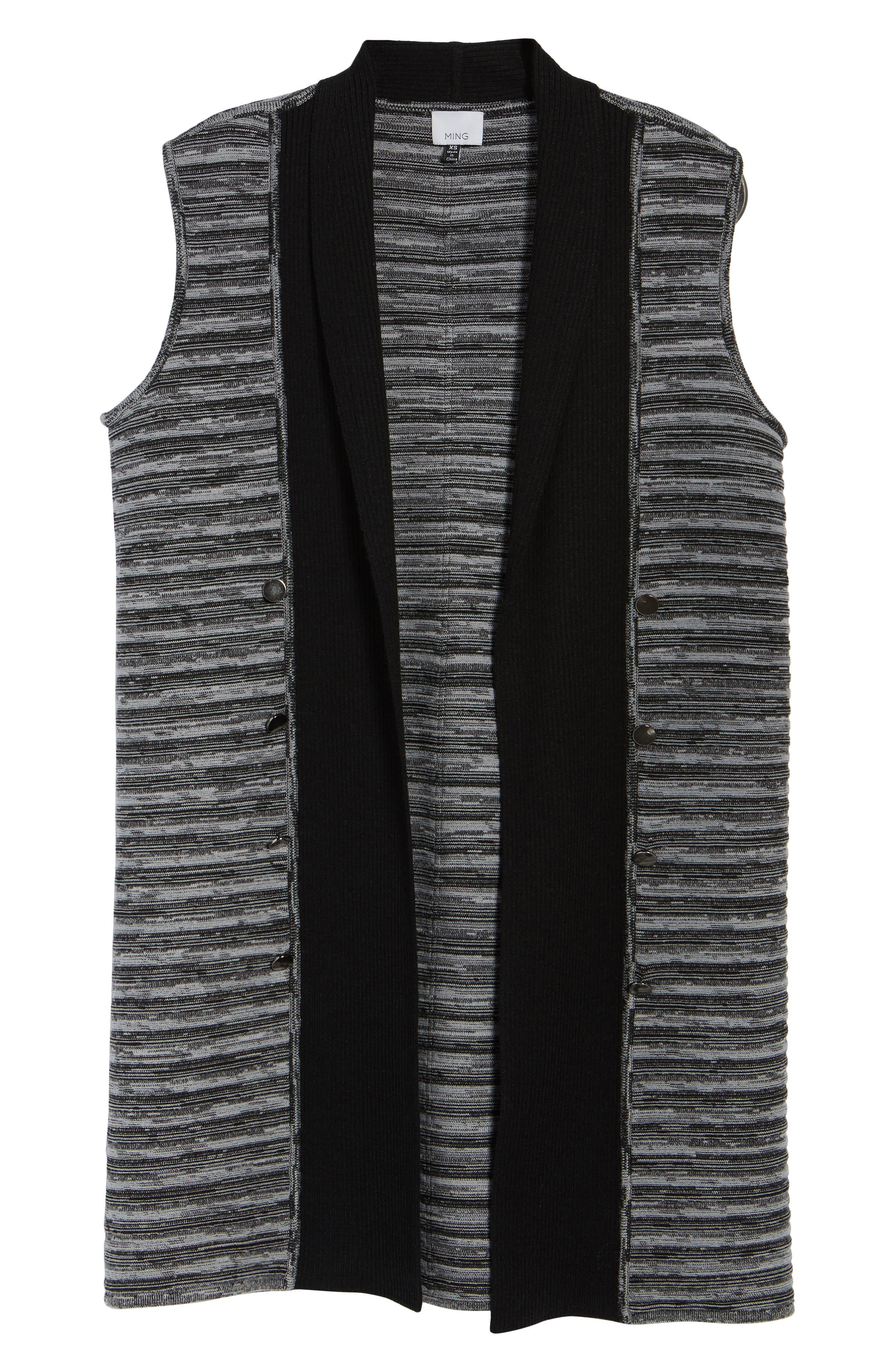 Ribbed Tweed Vest,                             Alternate thumbnail 5, color,