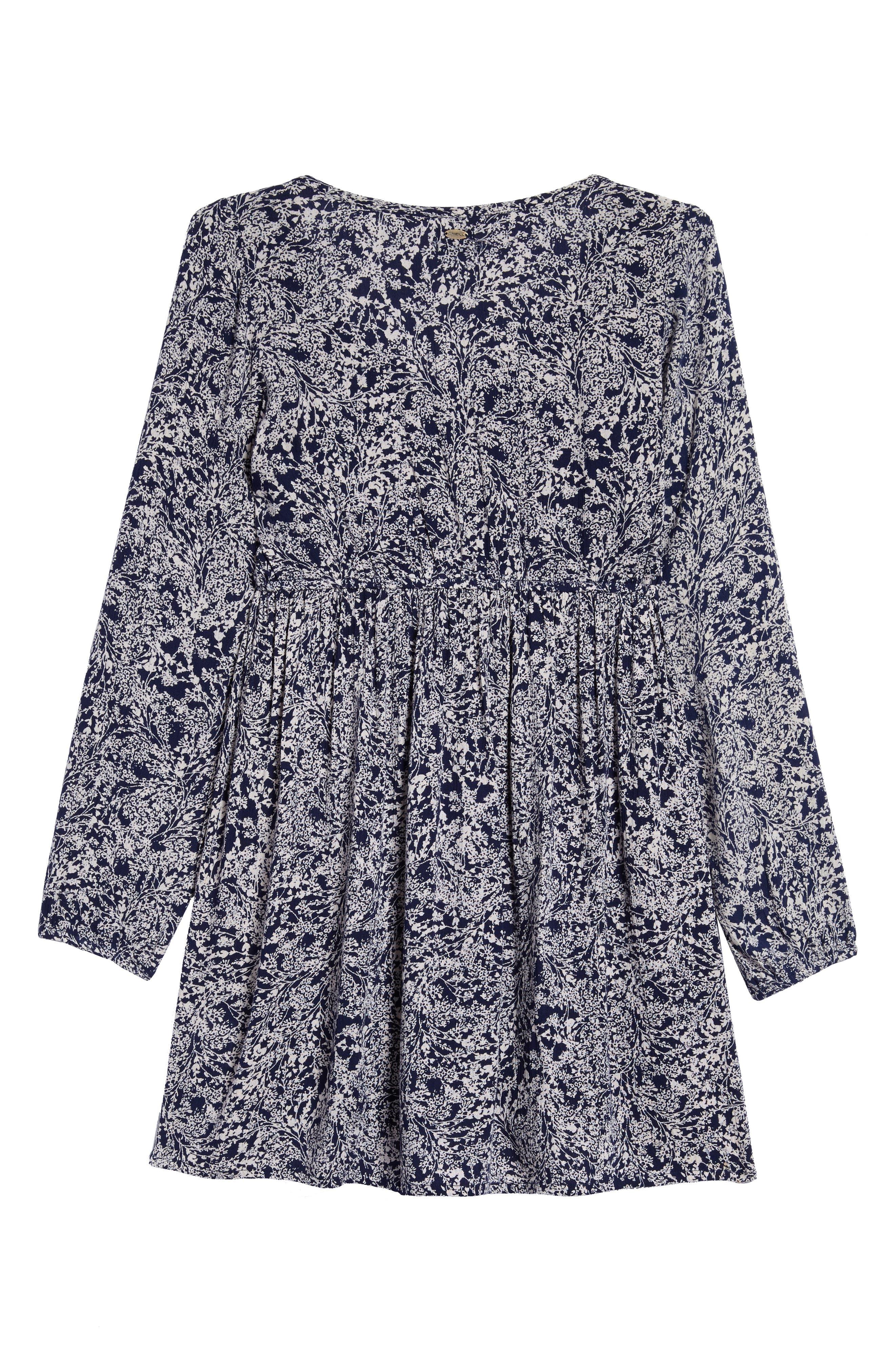 Rhianna Print Dress,                             Alternate thumbnail 4, color,                             400