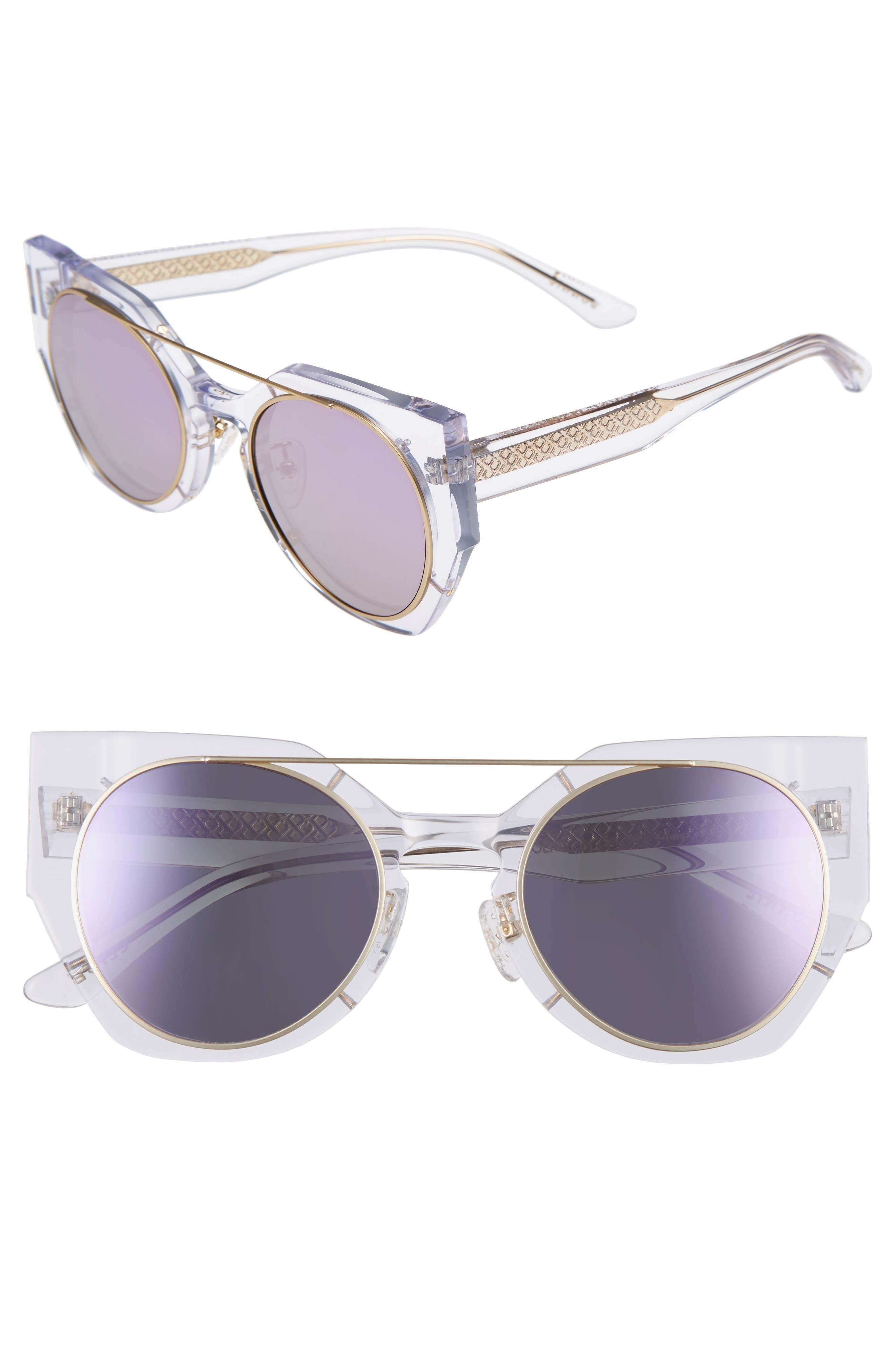 Olive 51mm Polarized Cat Eye Sunglasses,                             Main thumbnail 3, color,
