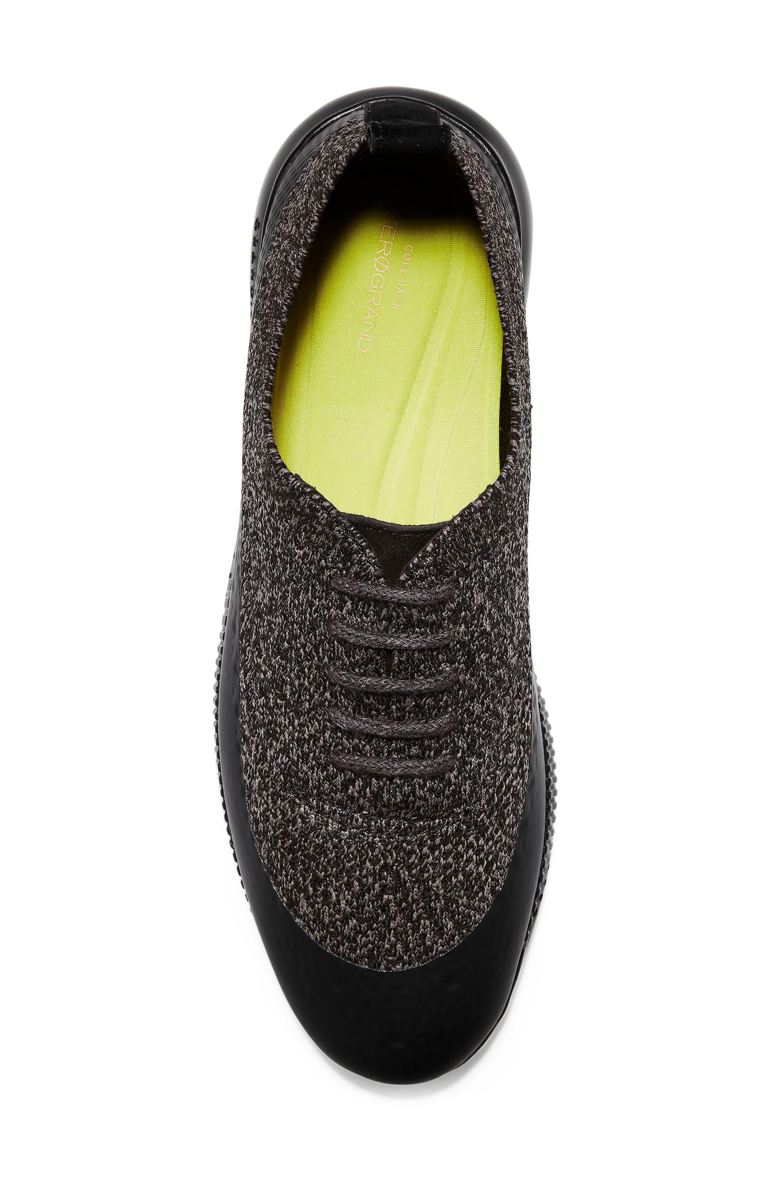 2 Zerogrand Stitchlite Oxford Sneaker,                             Alternate thumbnail 5, color,                             BLACK/ STORM CLOUD KNIT FABRIC