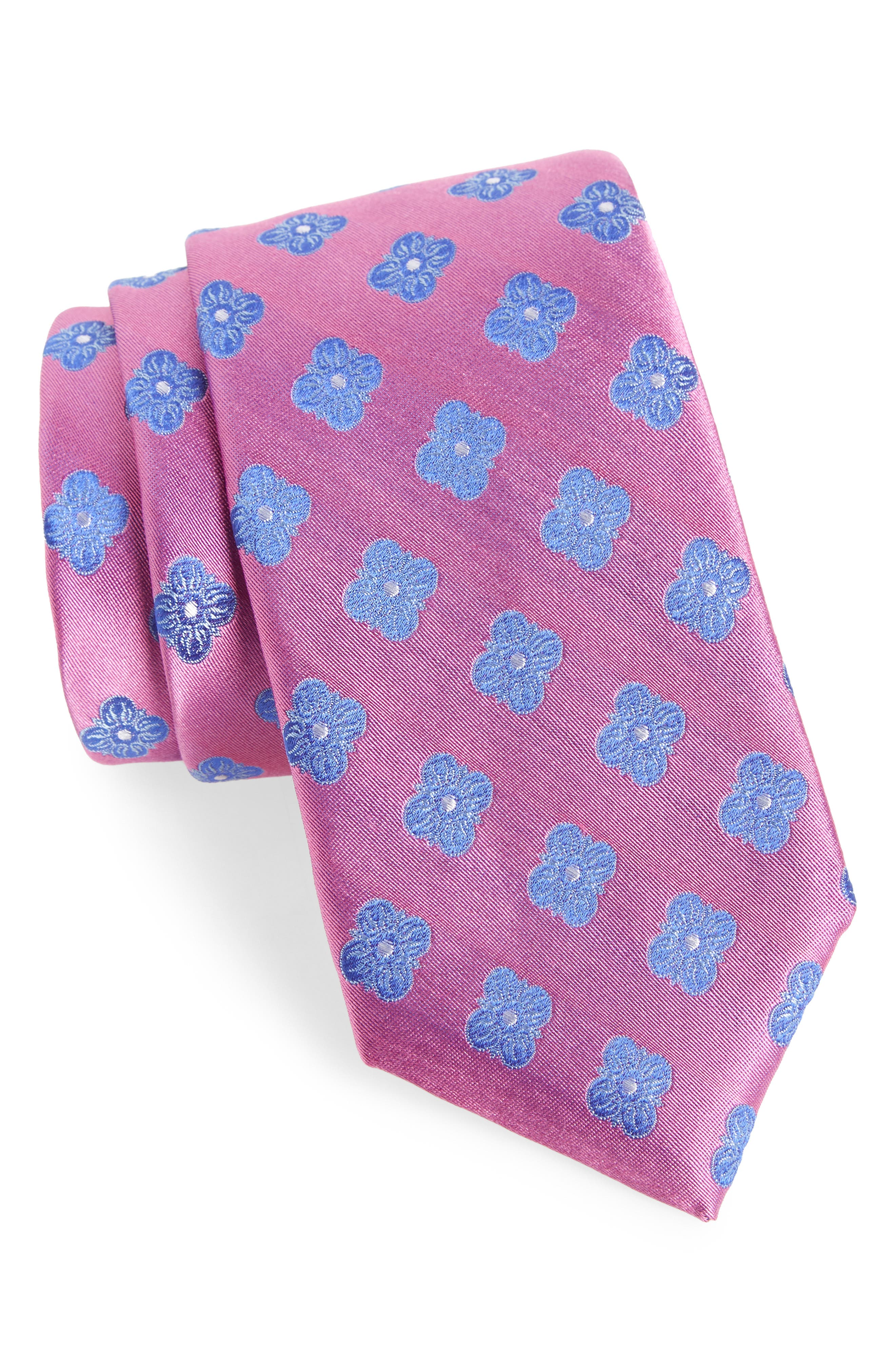 Cameron Floral Medallion Silk Tie,                             Main thumbnail 8, color,