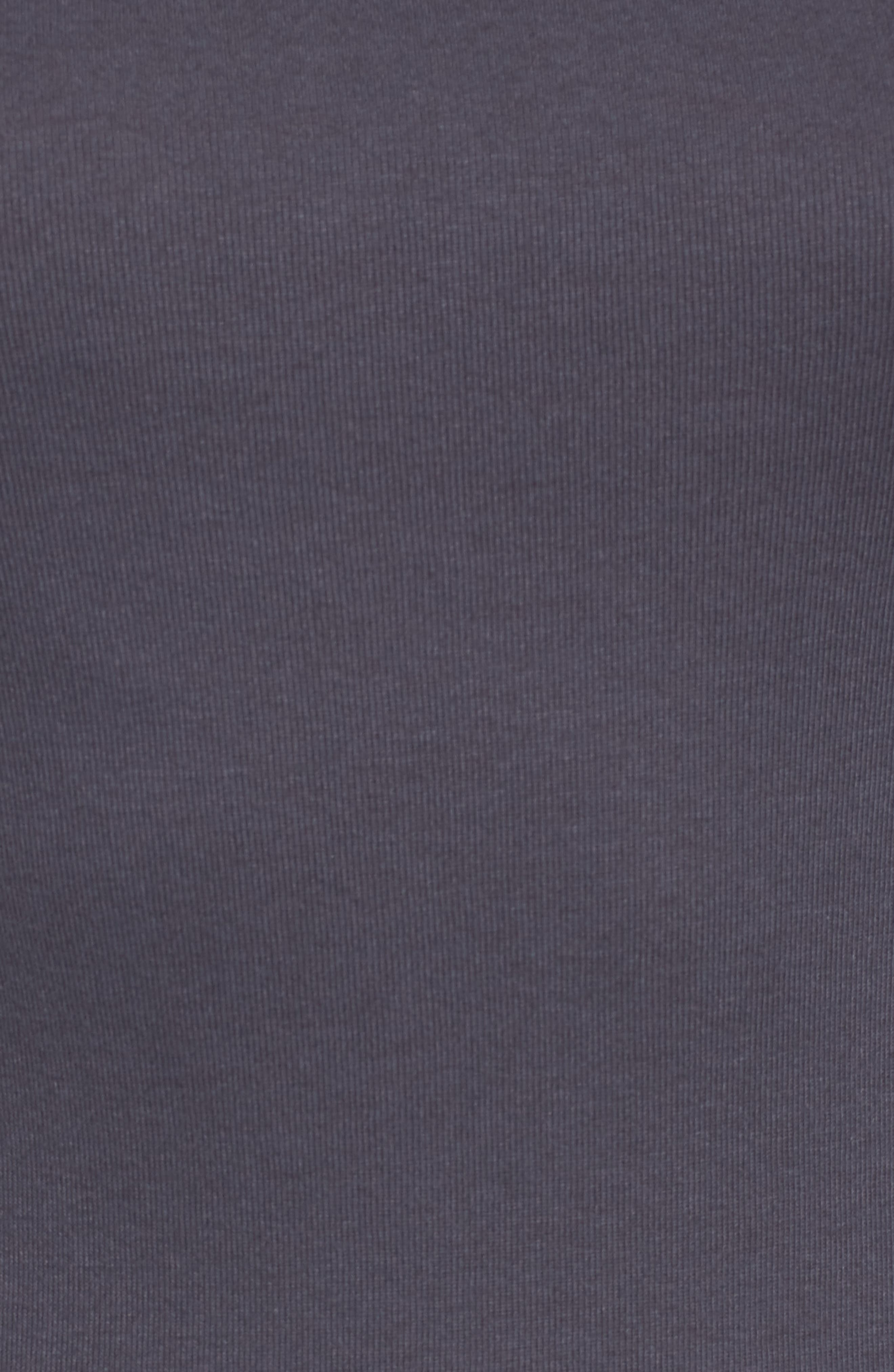 Ballet Neck Cotton & Modal Knit Elbow Sleeve Tee,                             Alternate thumbnail 5, color,                             GREY EBONY