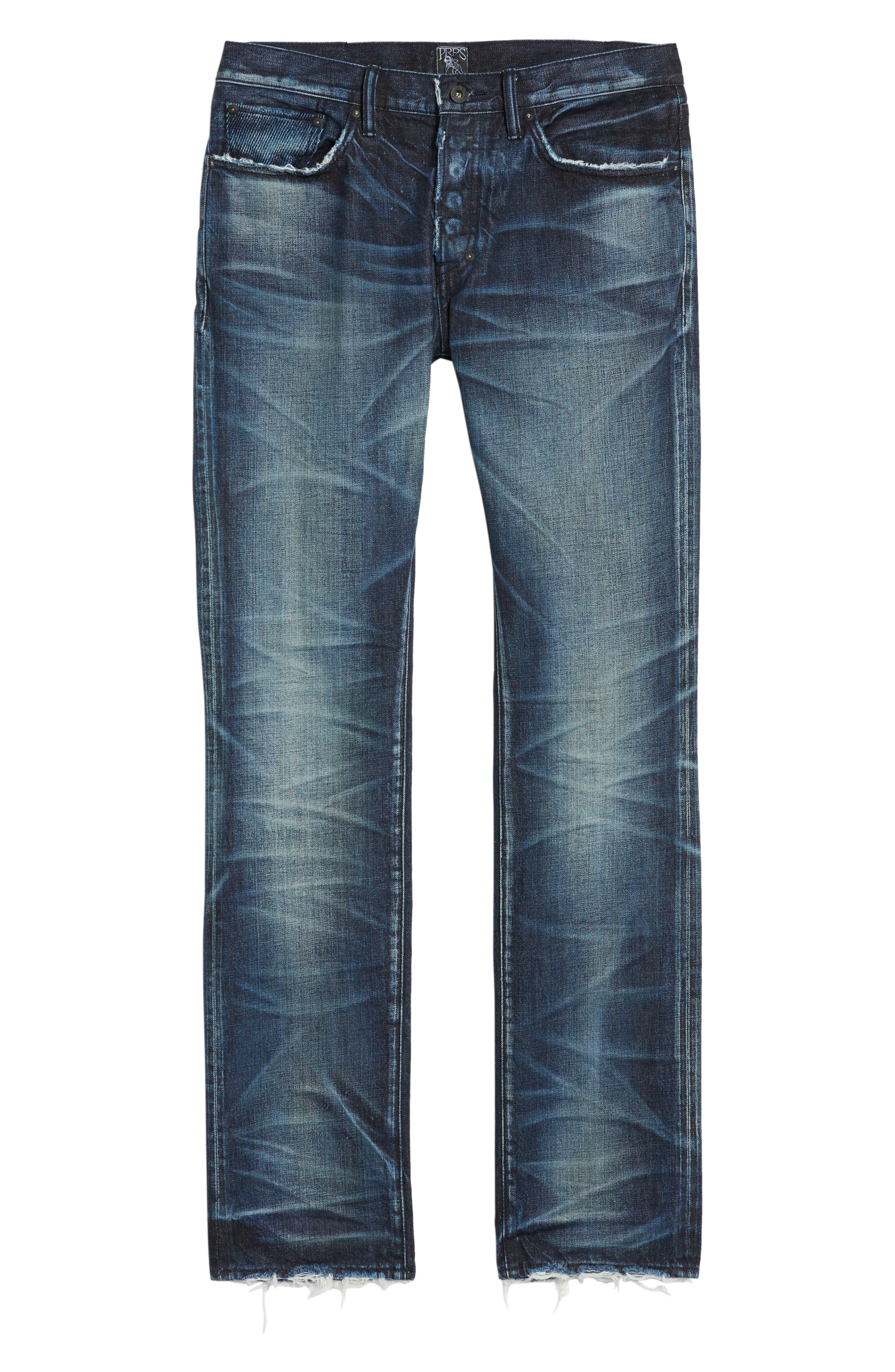 Demon Slim Straight Jeans,                             Alternate thumbnail 6, color,                             INDIGO