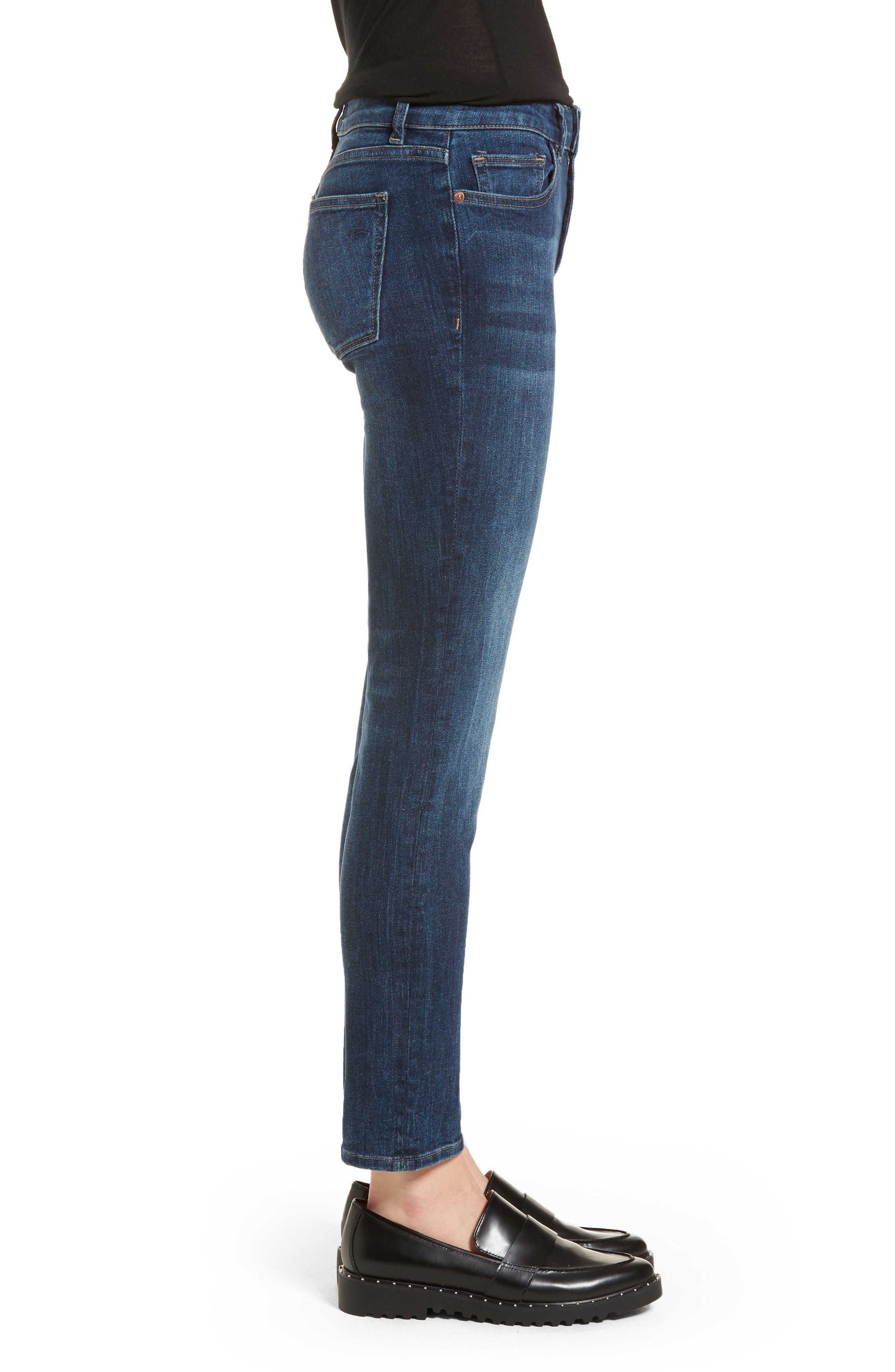 Angel Instasculpt Skinny Cigarette Jeans,                             Alternate thumbnail 3, color,                             405