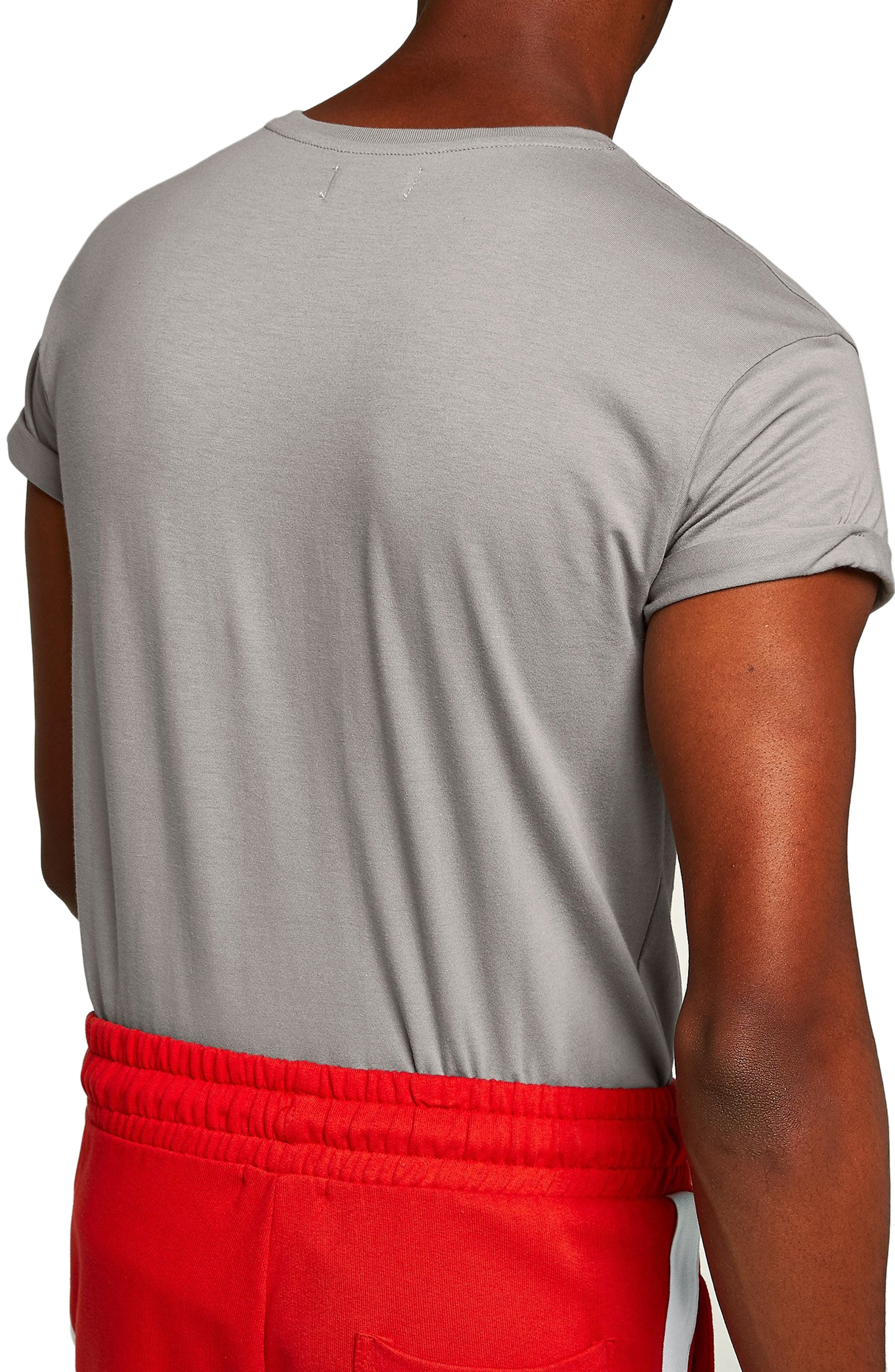 Muscle Fit Roller T-Shirt,                             Alternate thumbnail 2, color,                             CHARCOAL