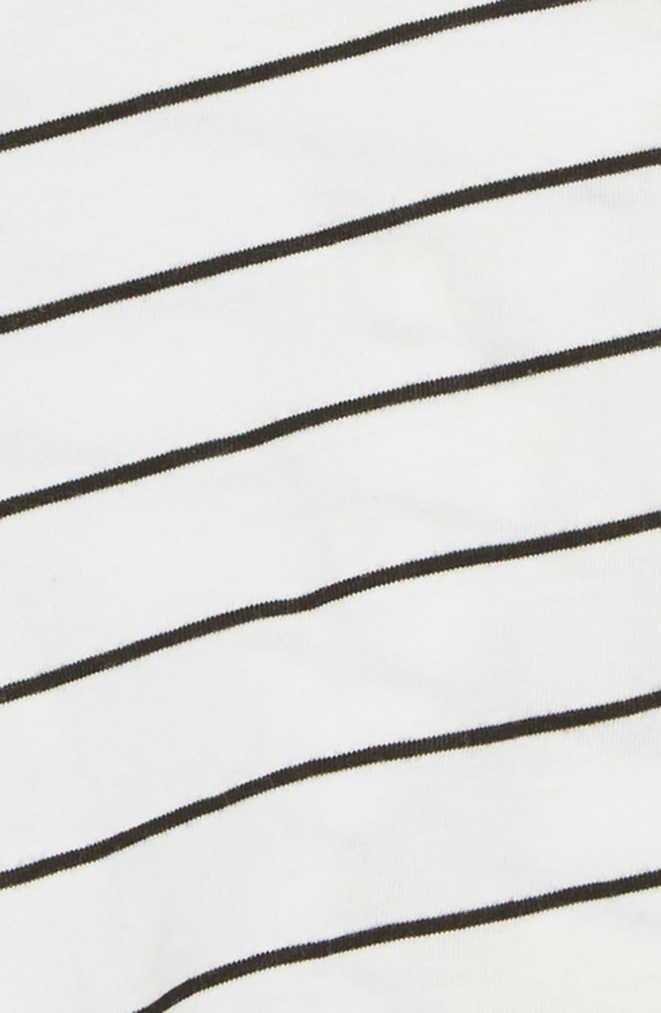 Stripe Tee & Ruffled Shorts Set,                             Alternate thumbnail 2, color,                             100