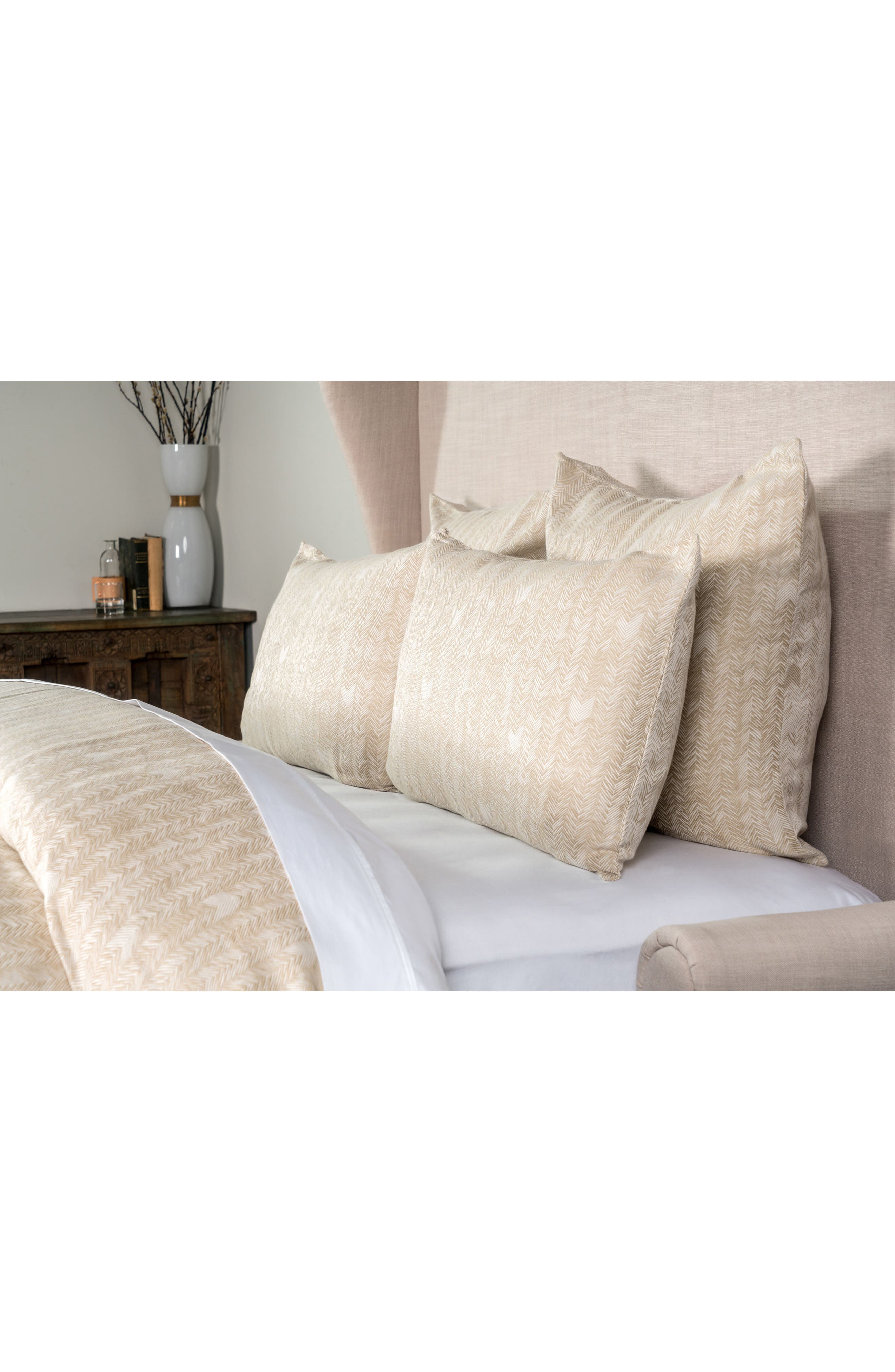 Duvet Cover,                         Main,                         color, NATURAL/ WHITE