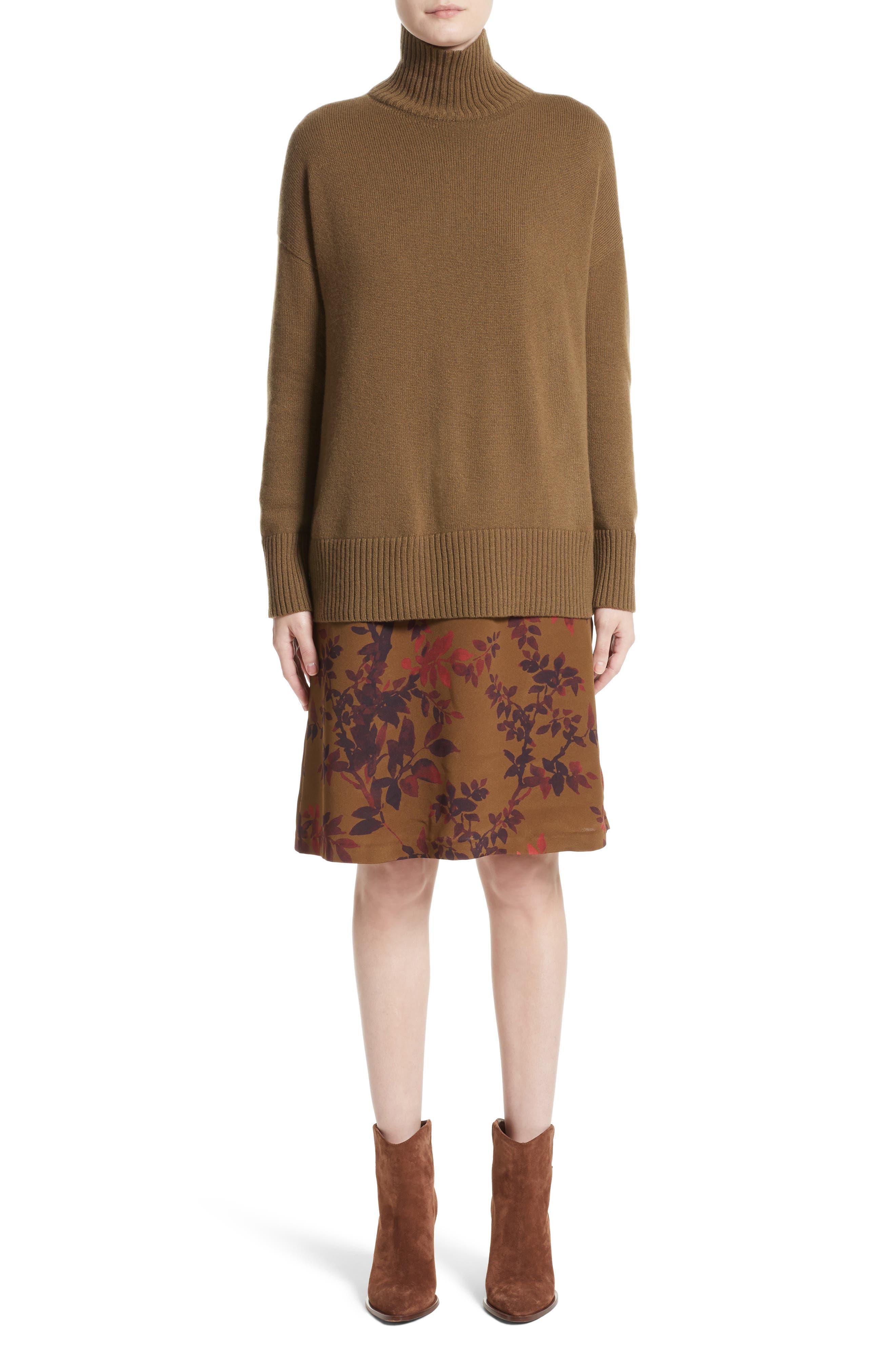 Sidra Floral Print Silk Dress,                             Alternate thumbnail 7, color,                             242