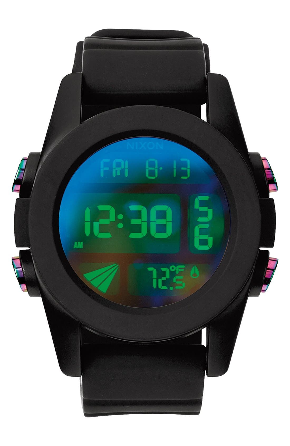 'The Unit' Round Digital Watch, 44mm,                             Main thumbnail 4, color,