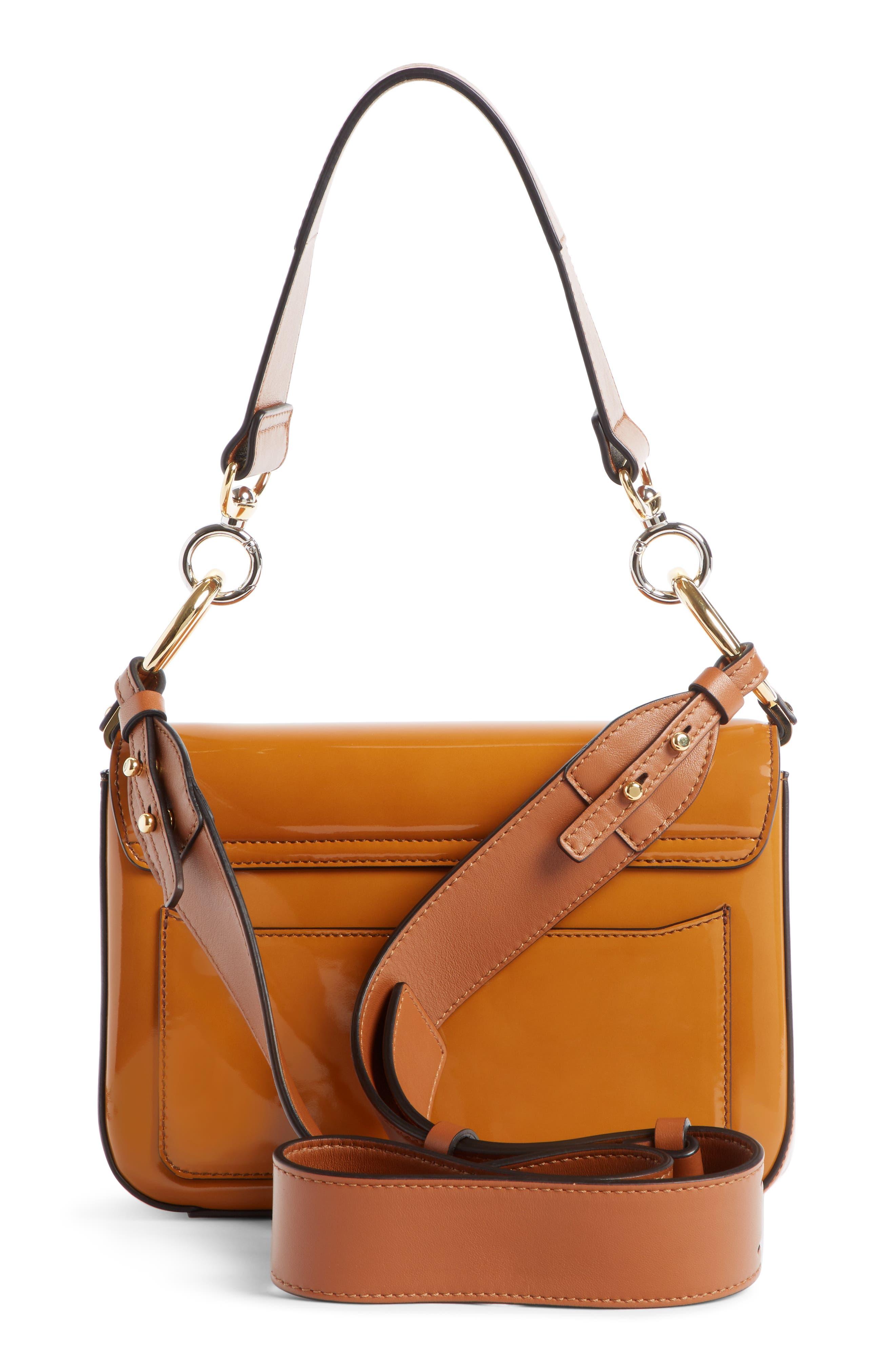 Patent Leather Shoulder Bag,                             Alternate thumbnail 2, color,                             CARAMEL