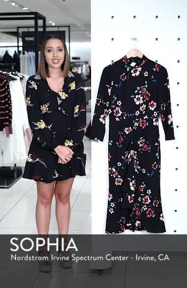Floral Ruffle Midi Dress, sales video thumbnail