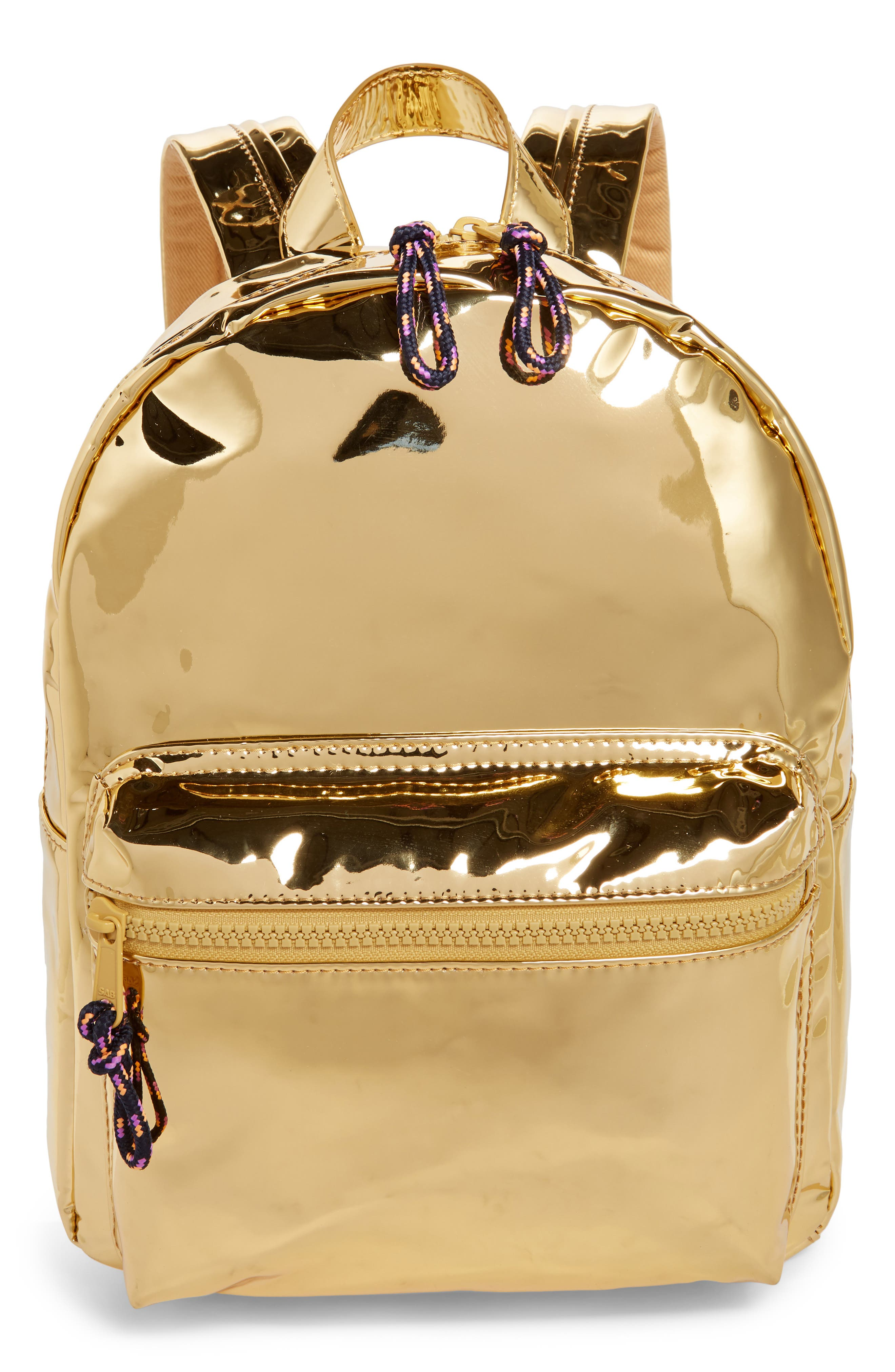 Metallic Mini Backpack,                             Main thumbnail 1, color,                             710