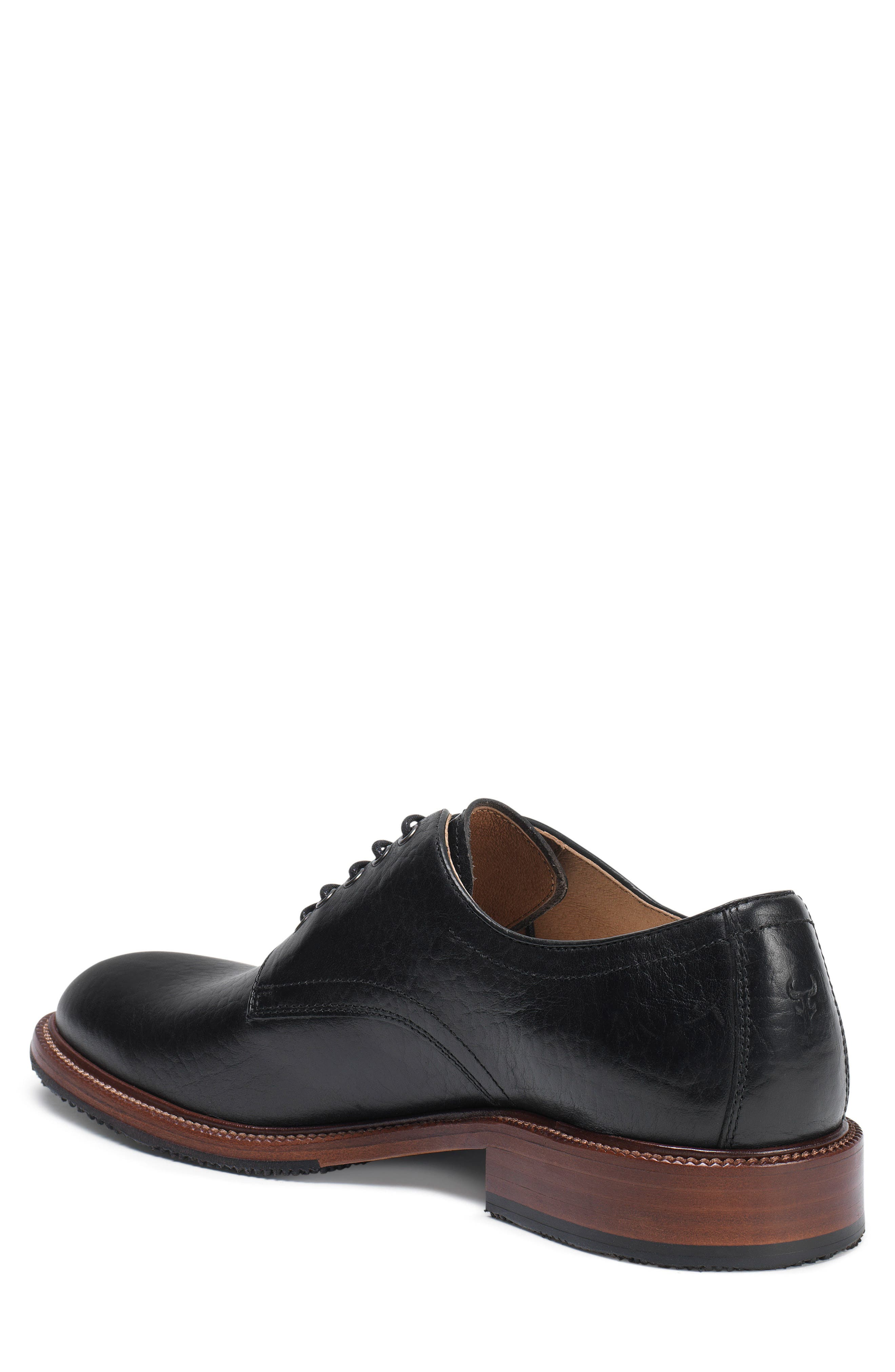 Landry Plain Toe Derby,                             Alternate thumbnail 2, color,                             BLACK LEATHER