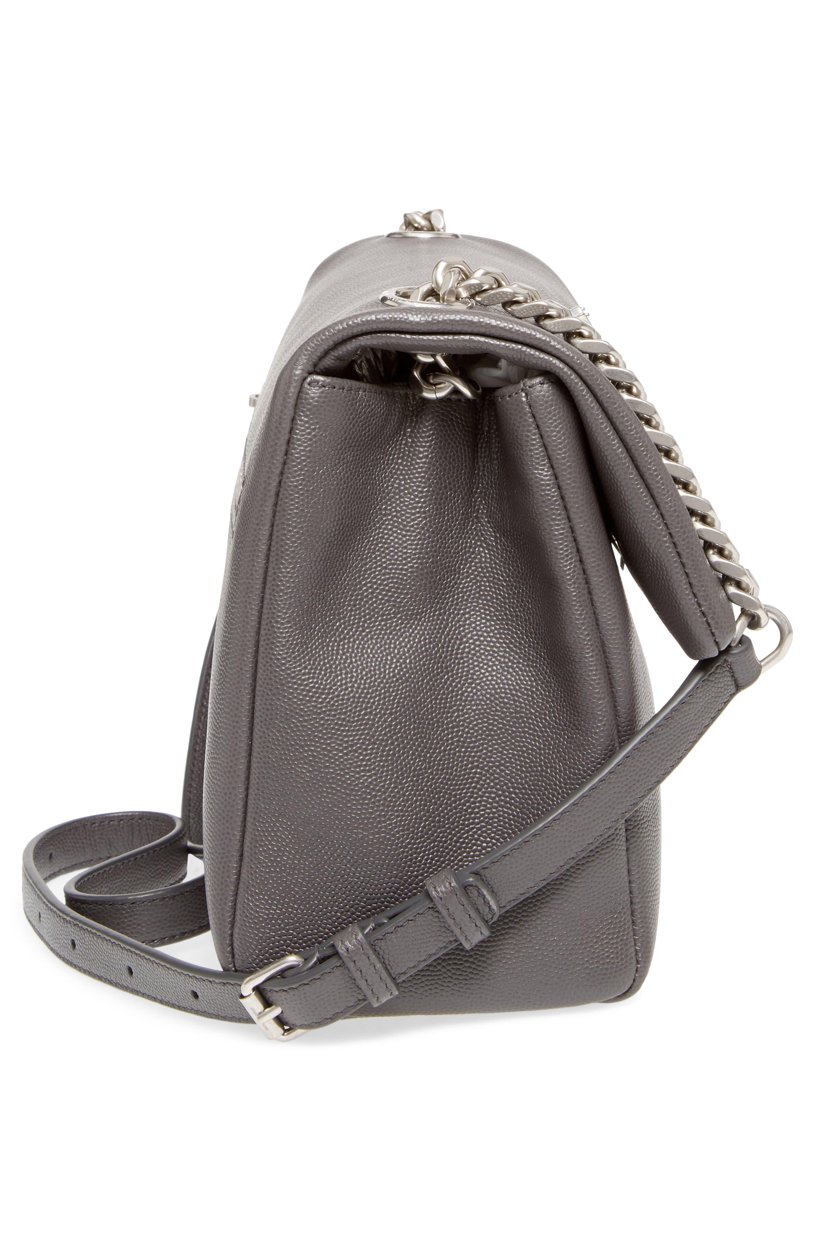 Medium West Hollywood Leather Shoulder Bag,                             Alternate thumbnail 5, color,                             064