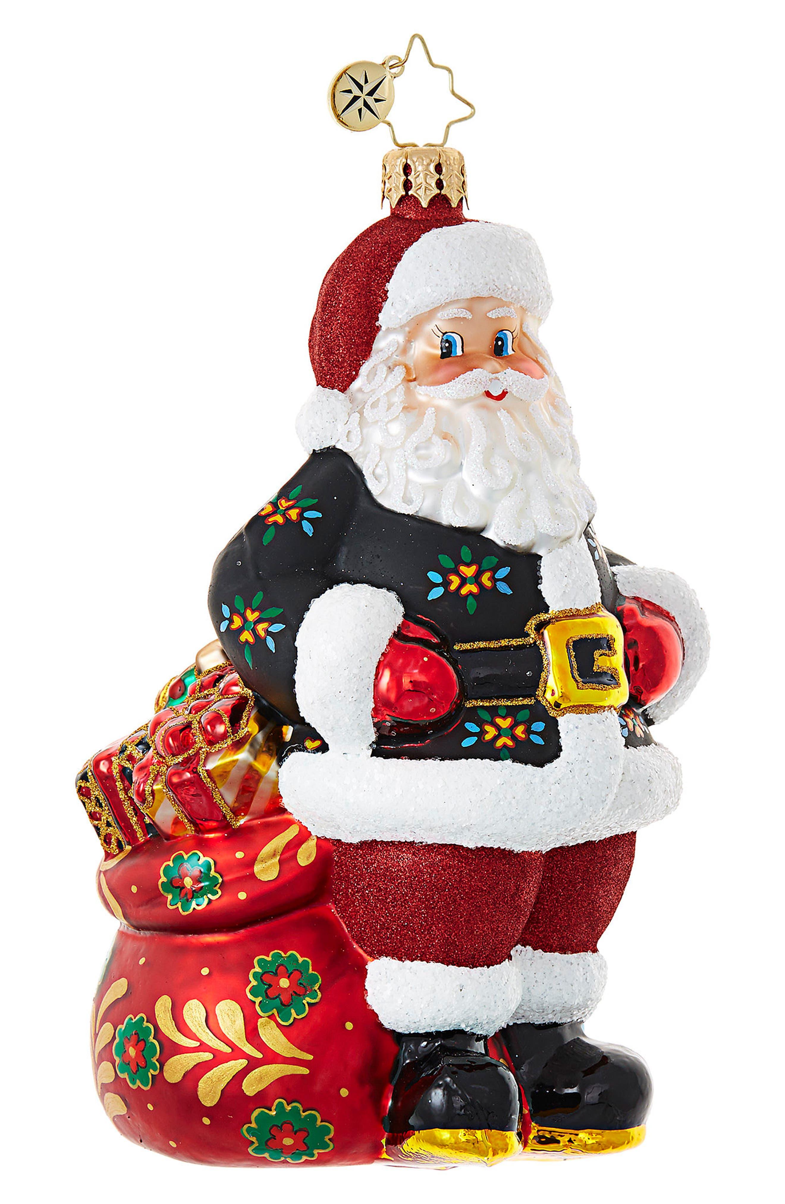 Der Weihnachtsmann Glass Ornament,                             Main thumbnail 1, color,                             600