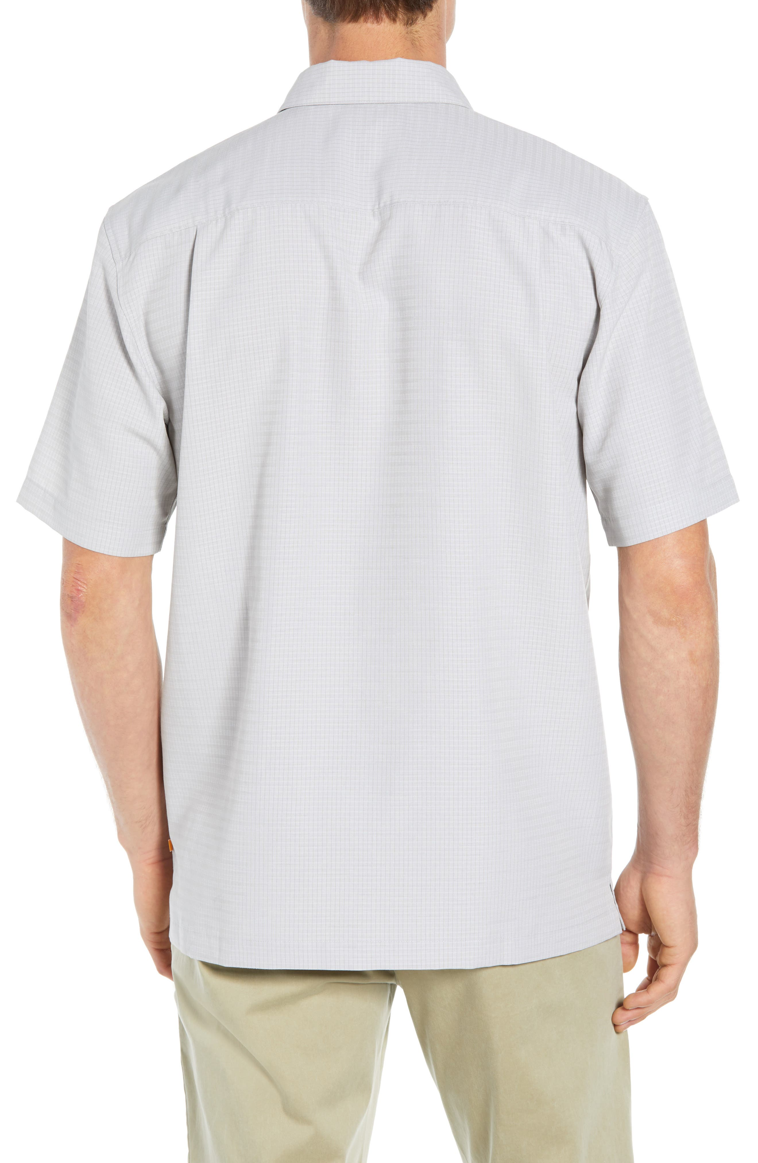 Centinela Regular Fit Camp Shirt,                             Alternate thumbnail 3, color,                             DRIZZLE