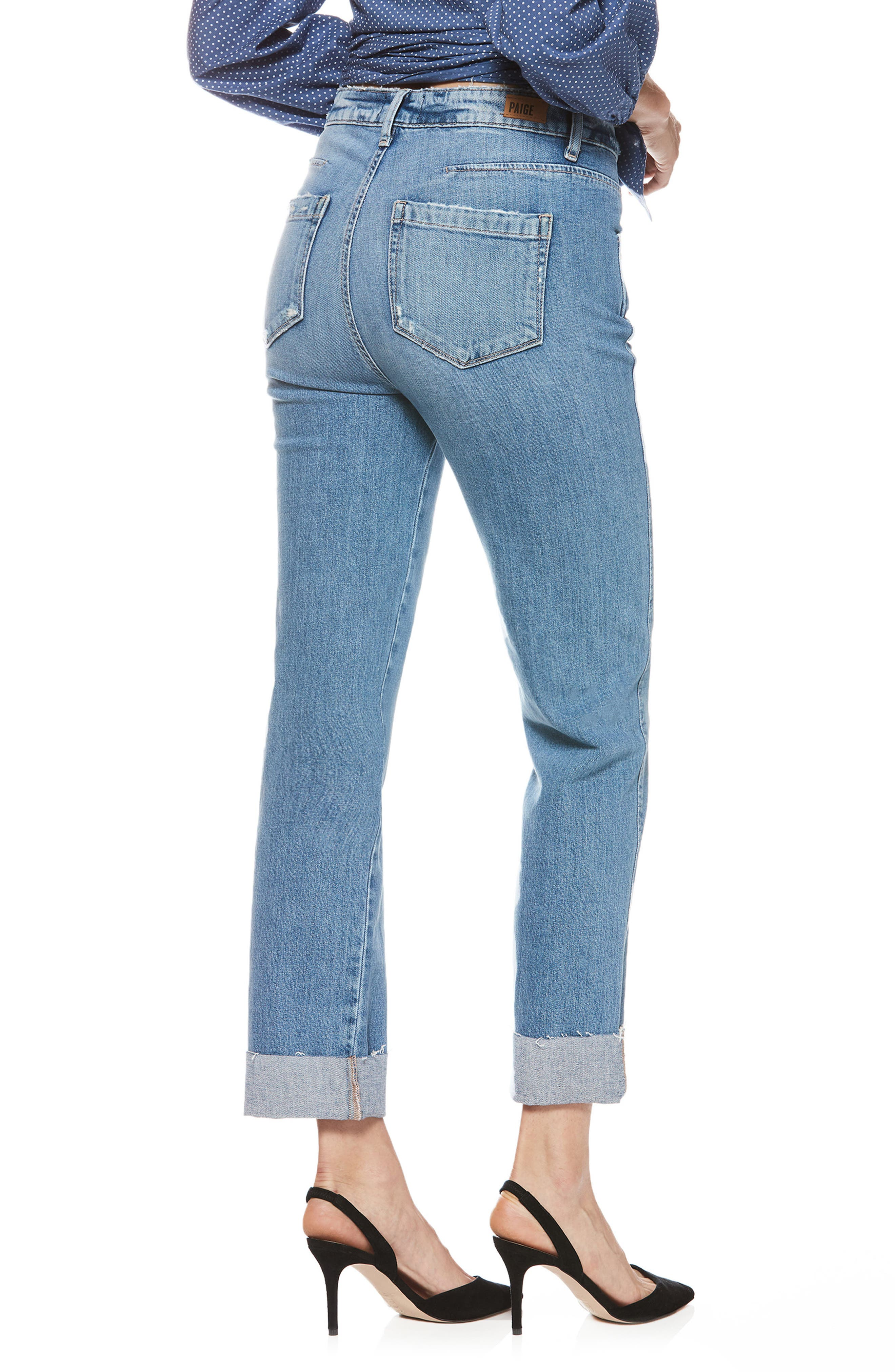 Sarah High Waist Straight Leg Jeans,                             Alternate thumbnail 2, color,                             400