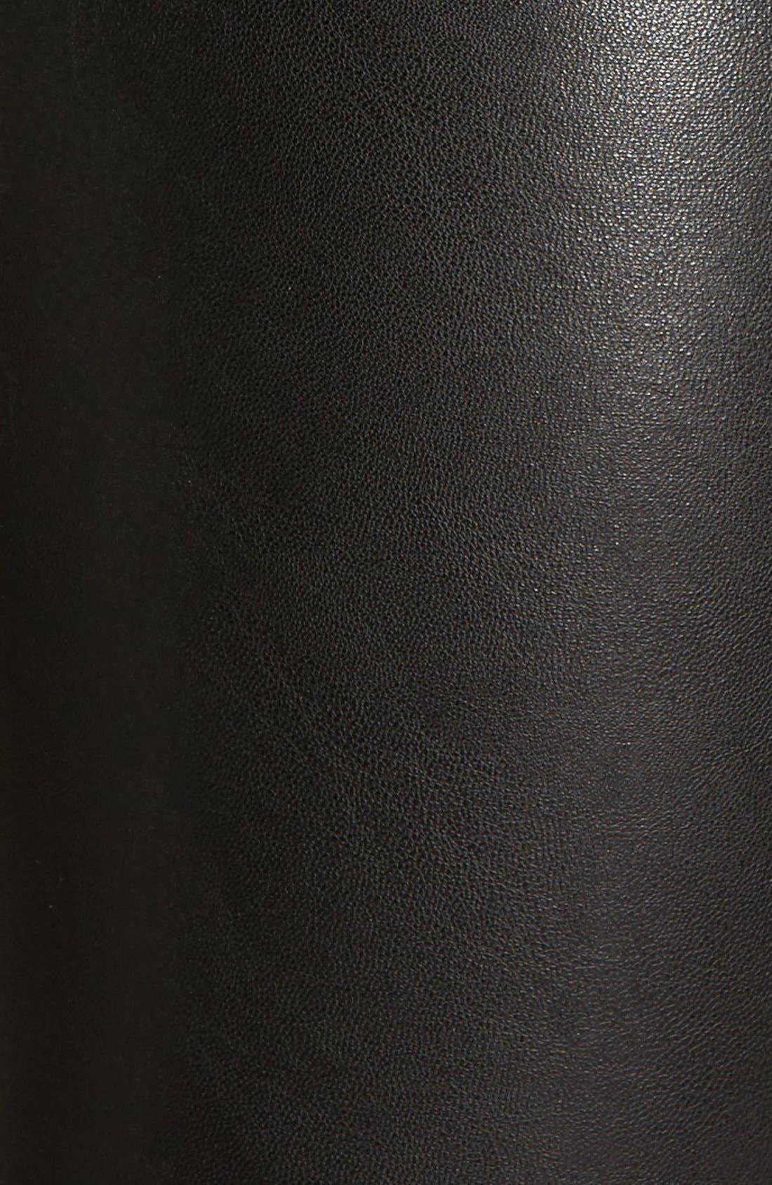 'Leatherette' Faux Leather Leggings,                             Alternate thumbnail 4, color,                             001