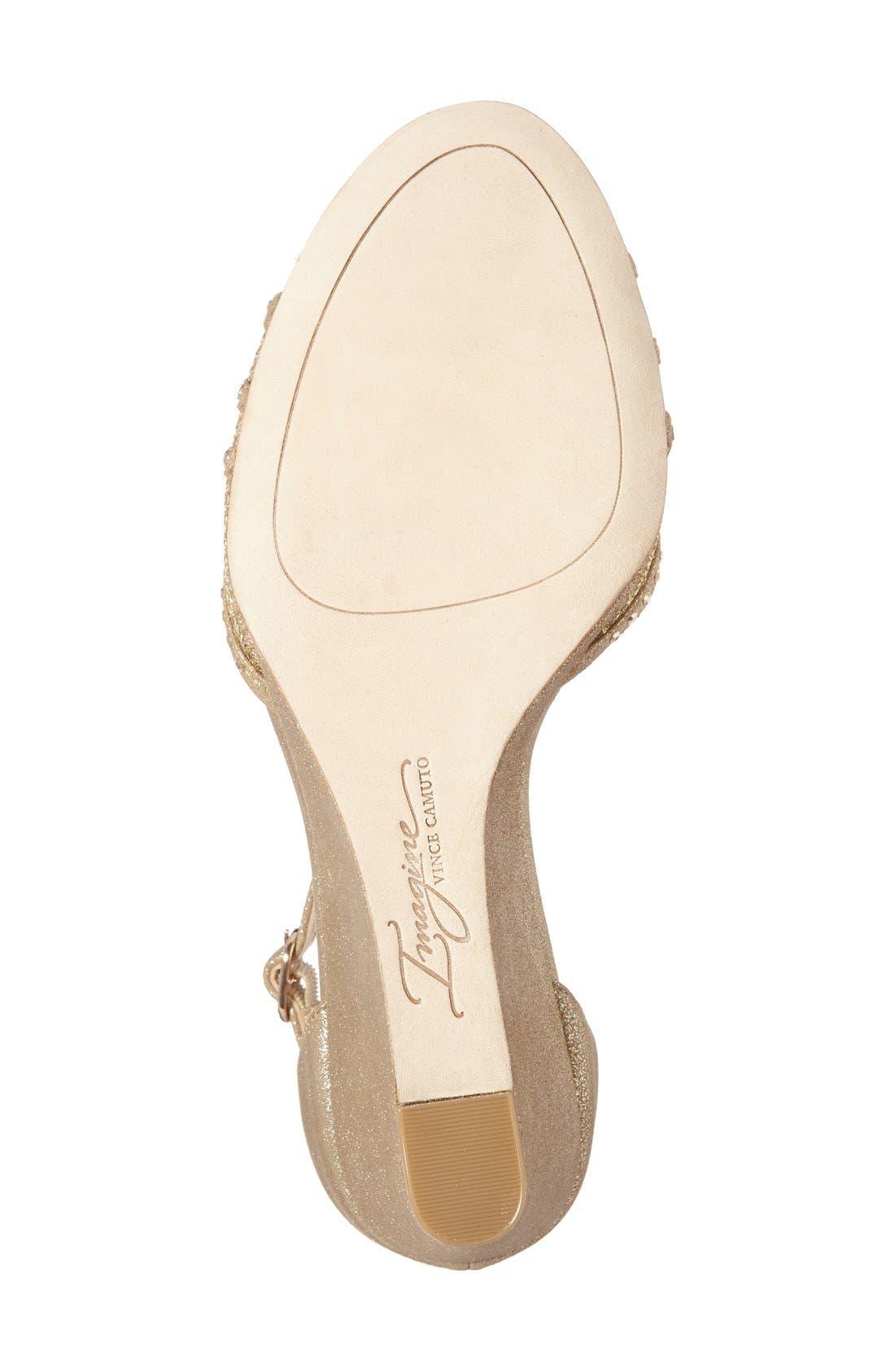 'Joan' Studded Wedge Sandal,                             Alternate thumbnail 6, color,