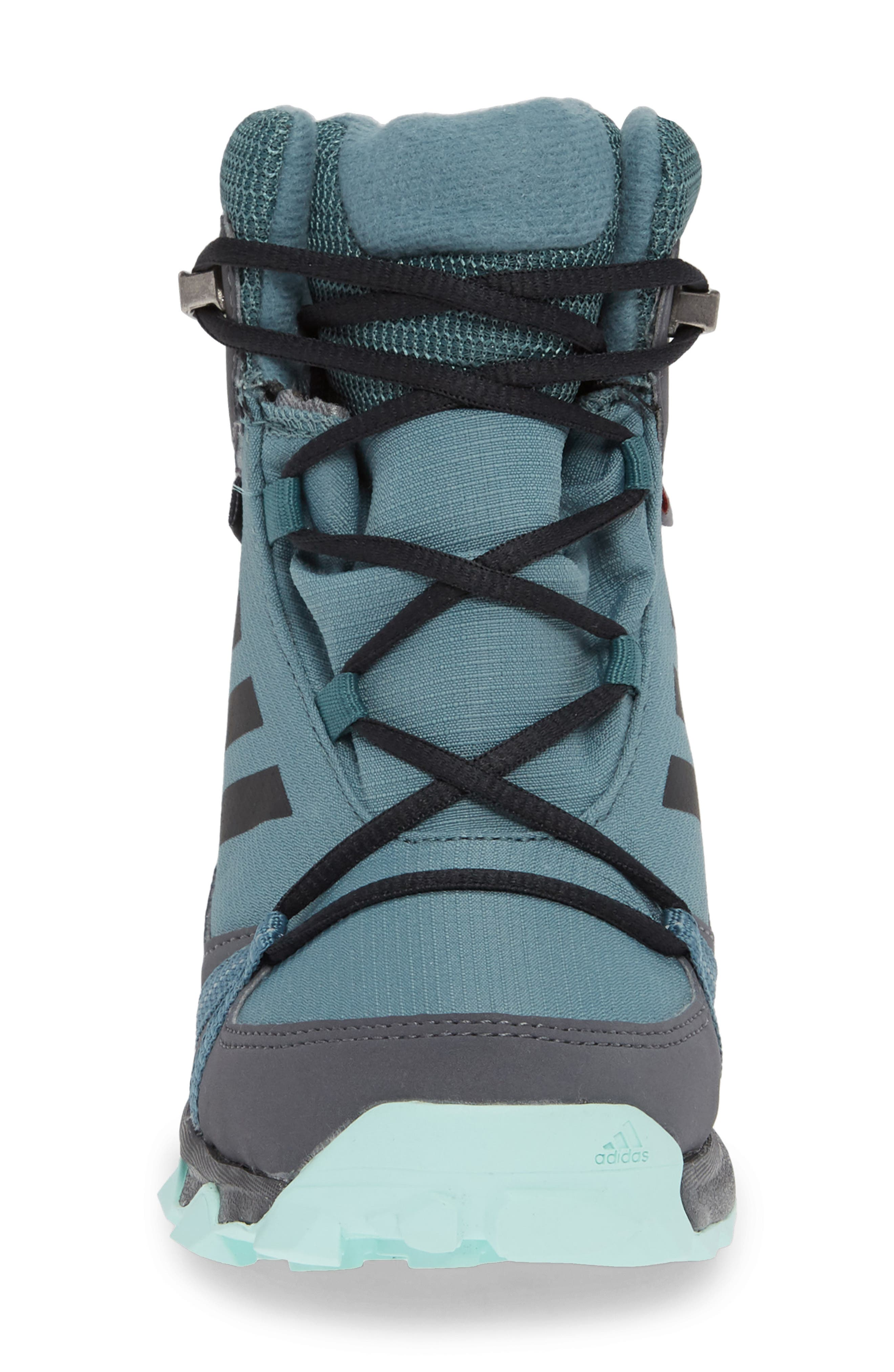 Terrex Snow CP CW Insulated Waterproof Sneaker Boot,                             Alternate thumbnail 4, color,                             CLEAR MINT/ CARBON/ AQUA