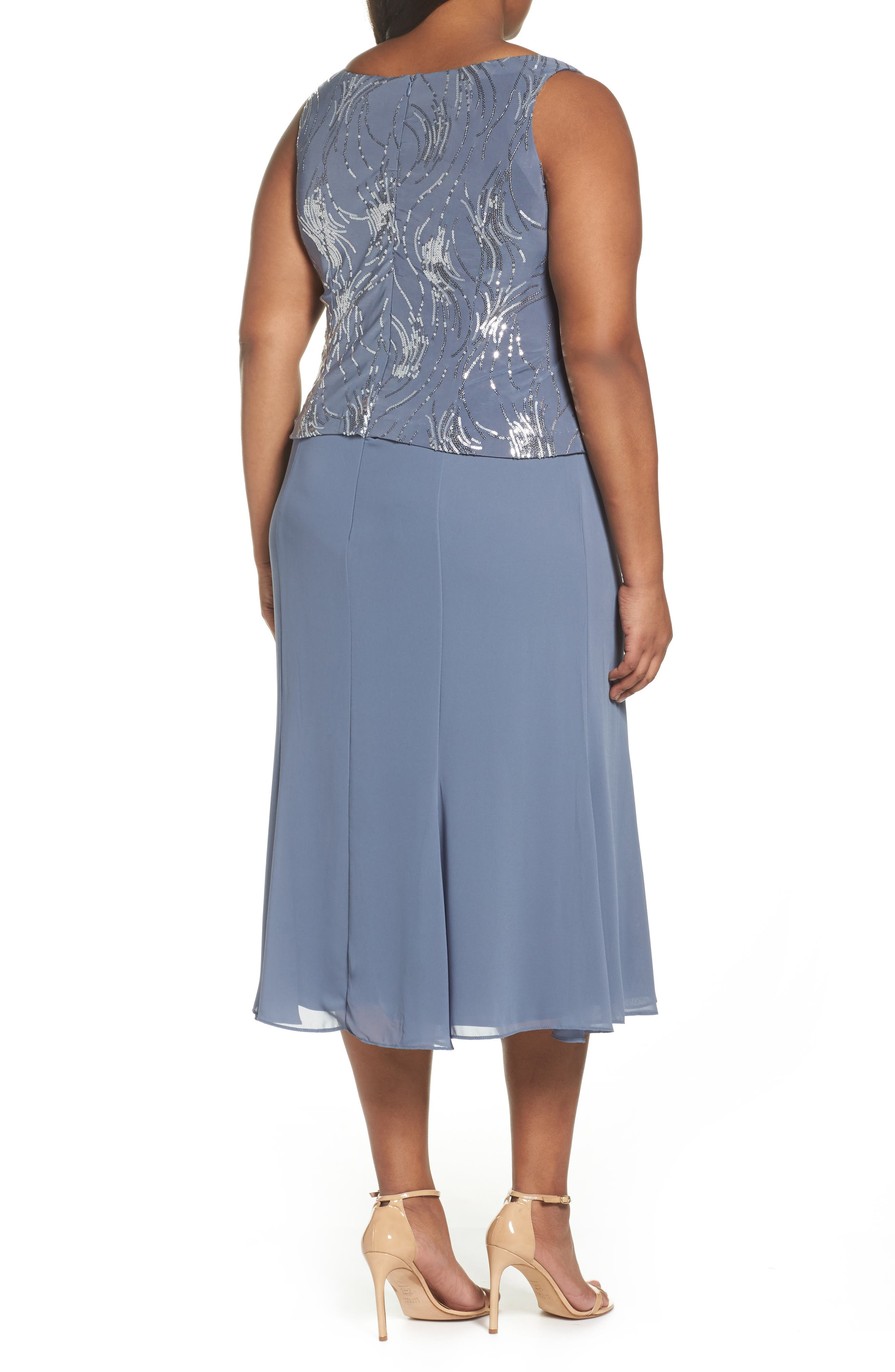 Mock Two-Piece Jacket Dress,                             Alternate thumbnail 4, color,                             451