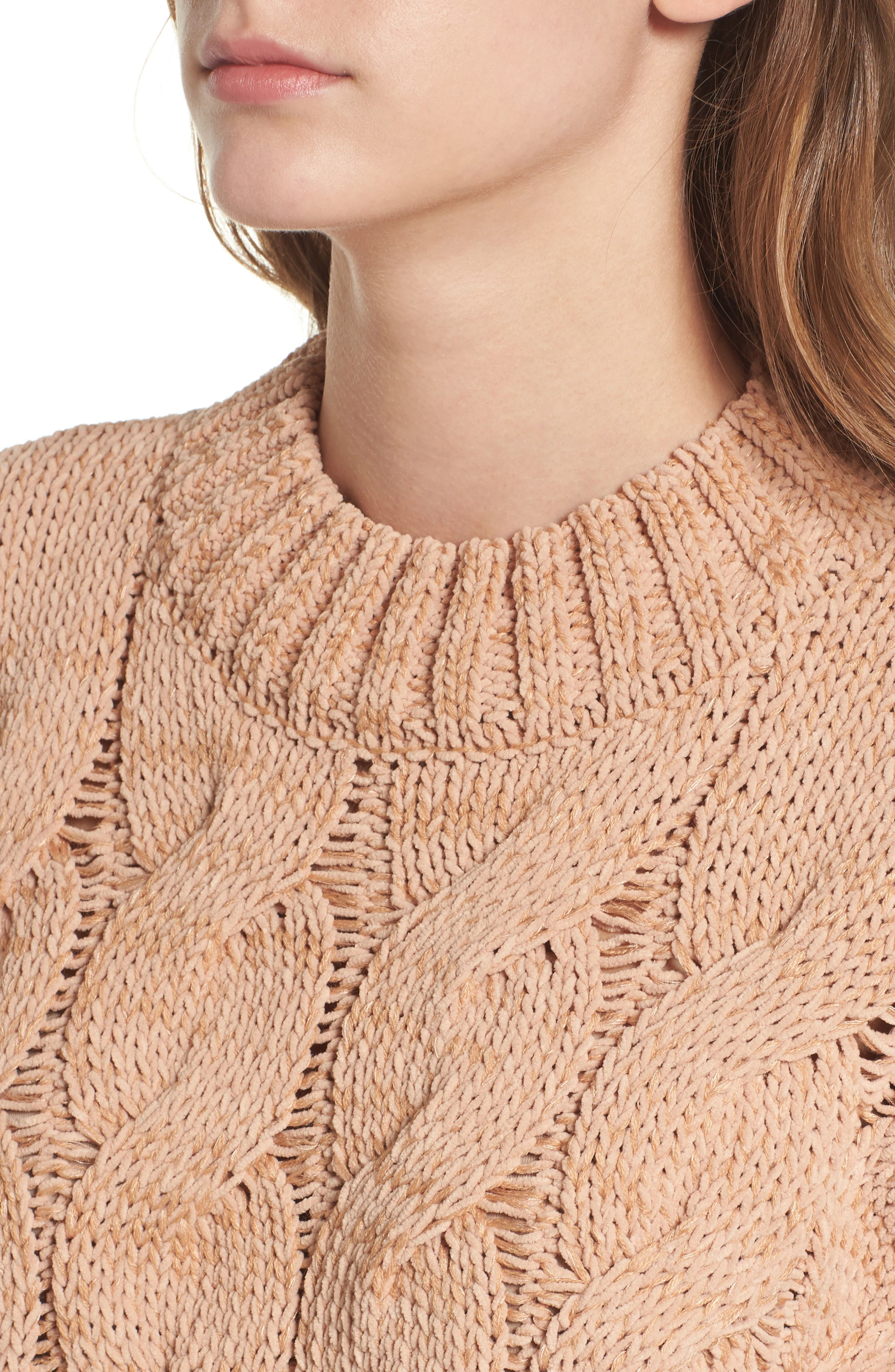 Cable Knit Sweater,                             Alternate thumbnail 4, color,                             650