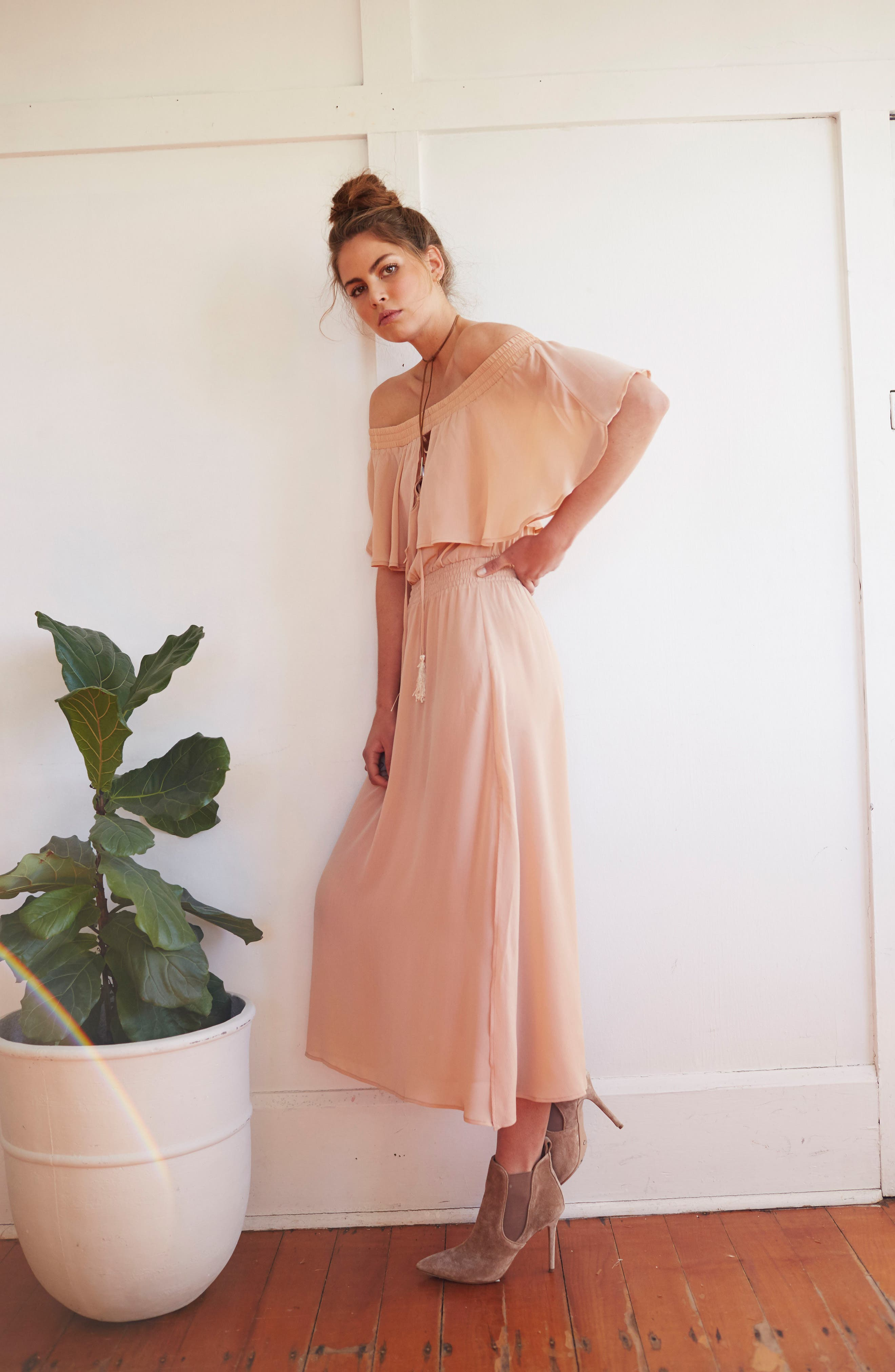 Touch the Sun Off the Shoulder Dress,                             Alternate thumbnail 13, color,