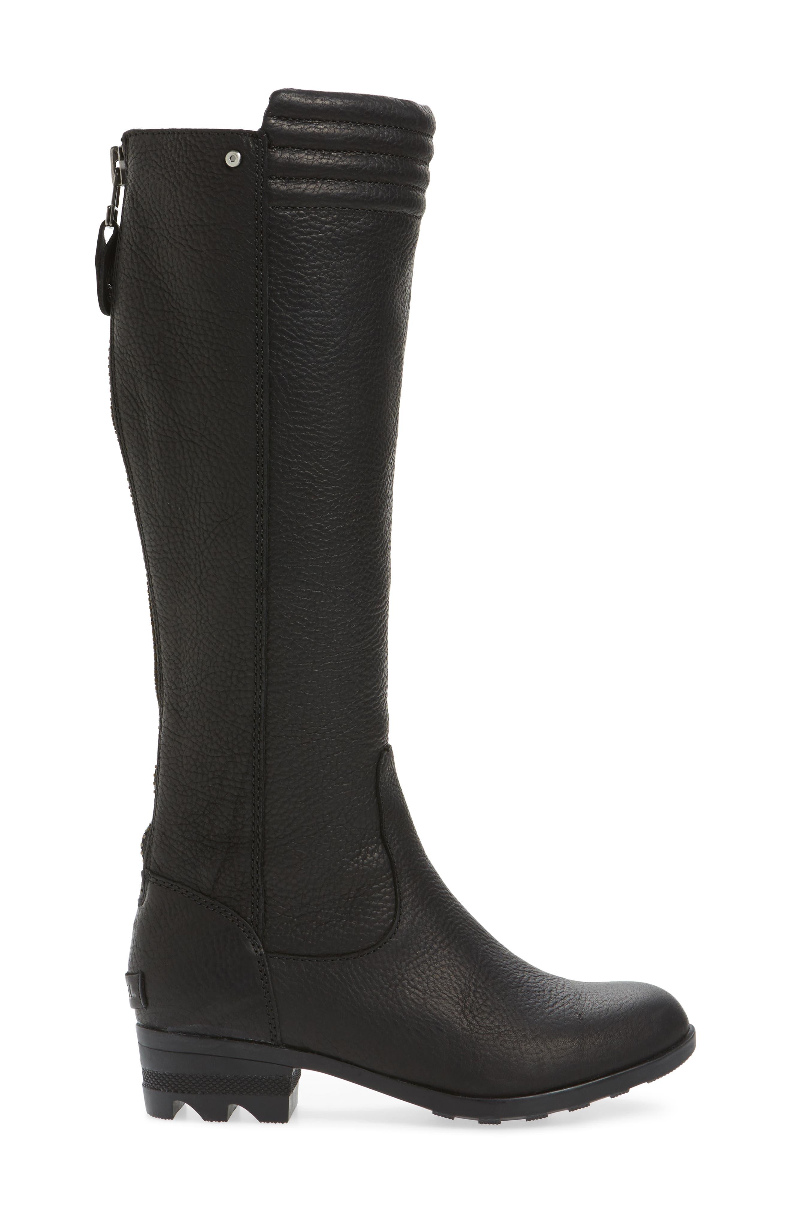 Danica Waterproof Knee High Boot,                             Alternate thumbnail 3, color,                             010