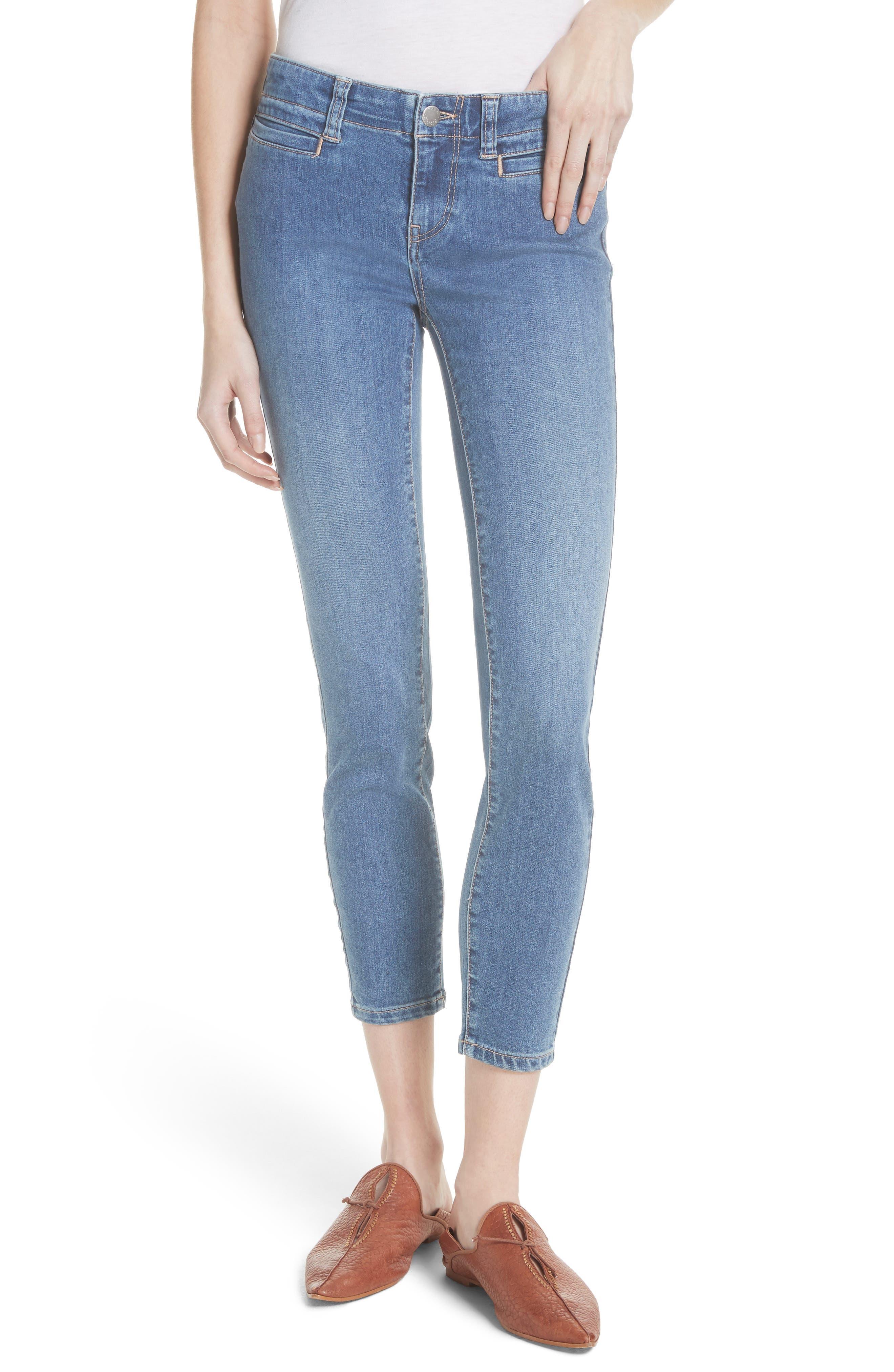 Low Slung Crop Skinny Jeans,                         Main,                         color, 400