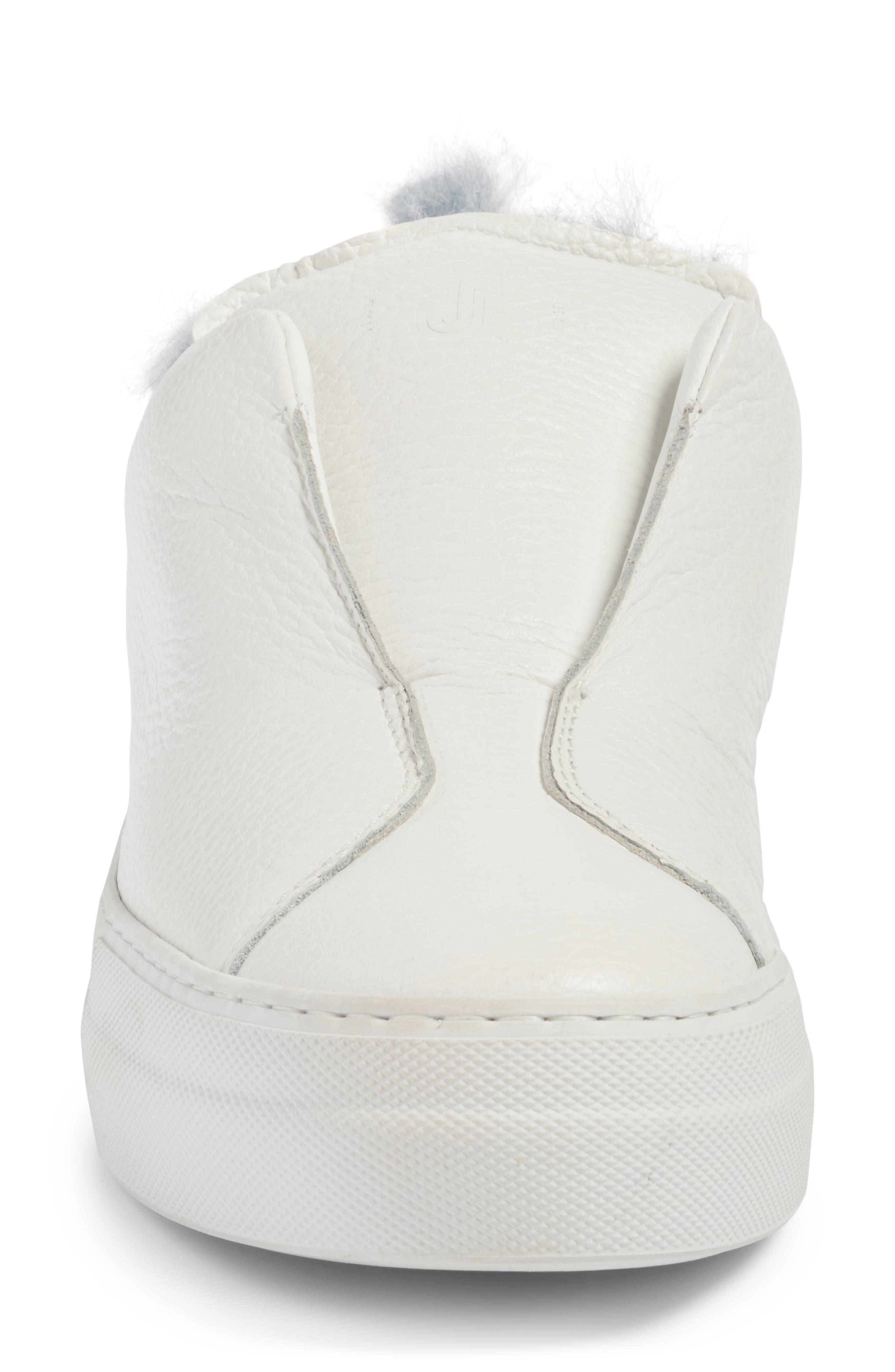 Faux Fur Slip-On Sneaker,                             Alternate thumbnail 7, color,