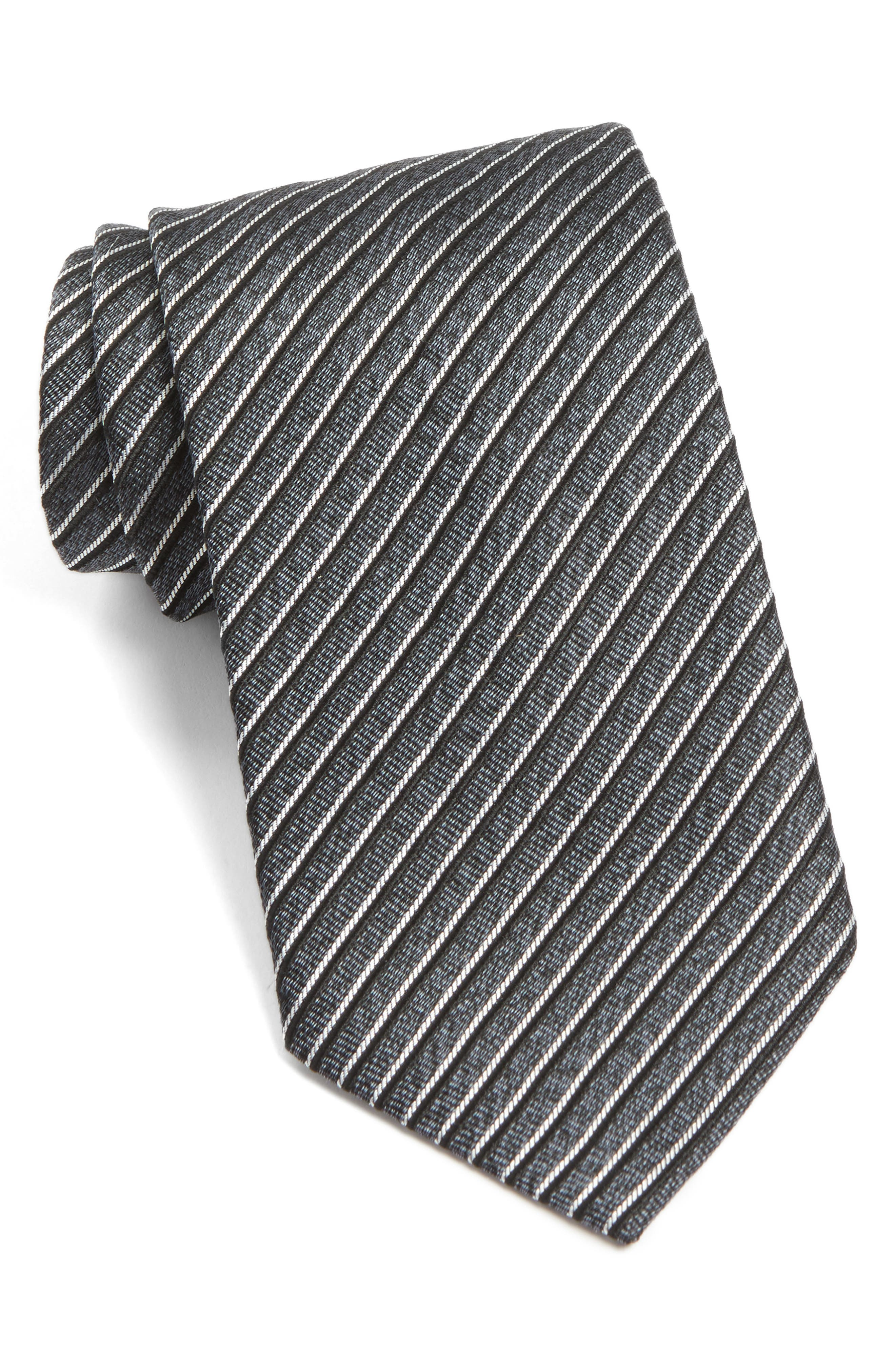 Stripe Silk Tie,                         Main,                         color, 027